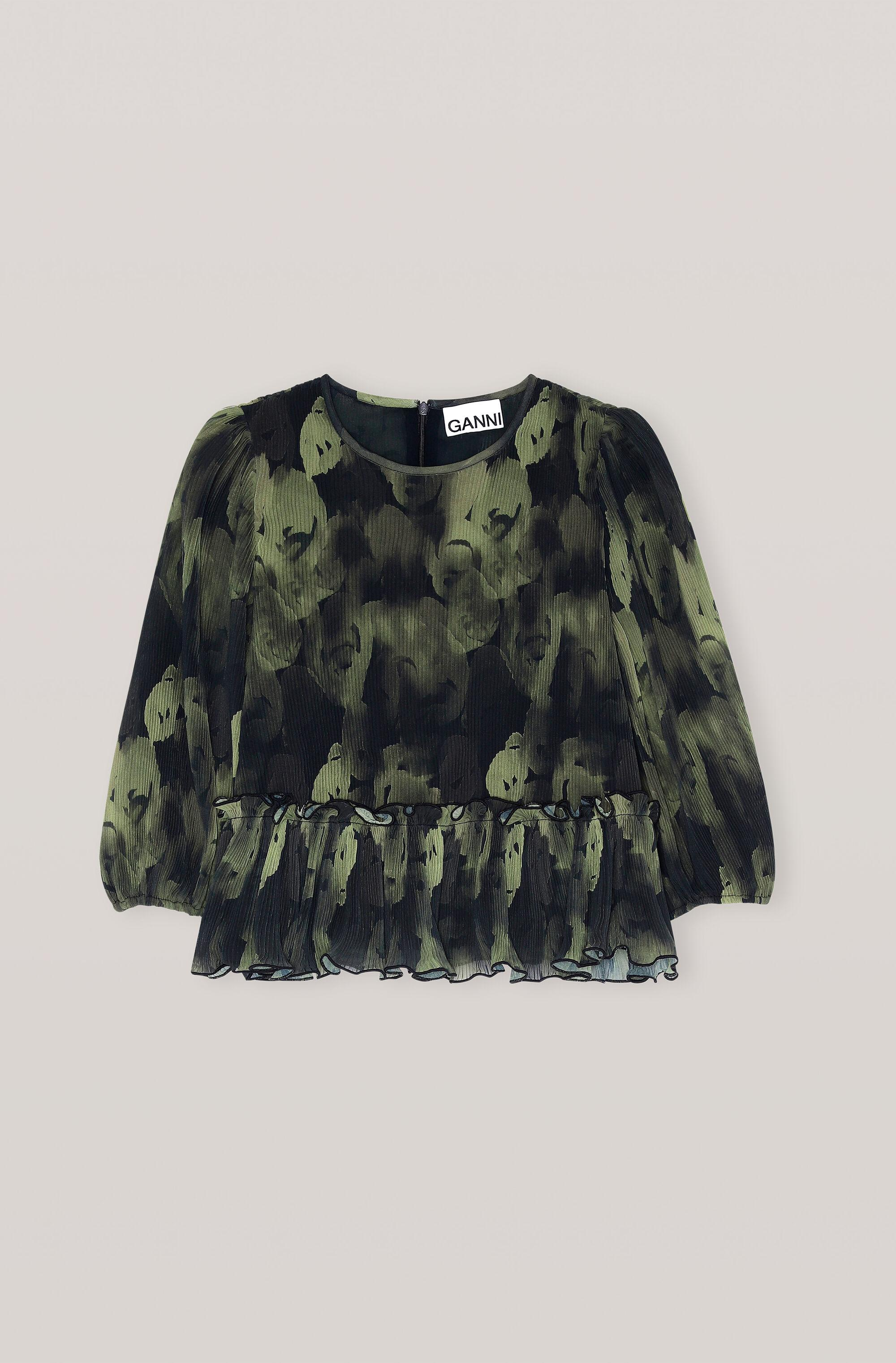 Pleated Georgette Blouse 3