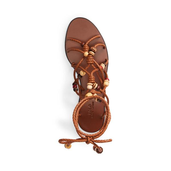 Beaded Lace-Up Sandal 3