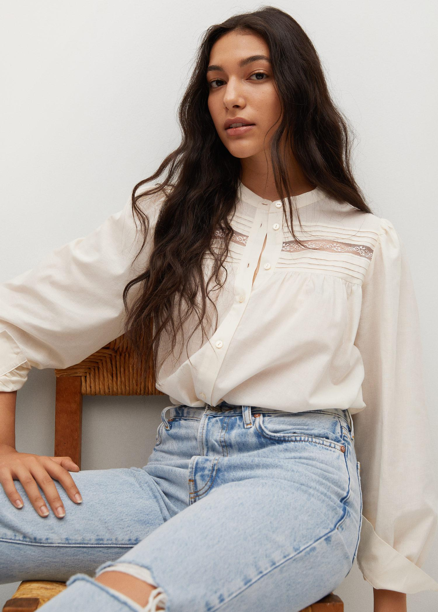 Pleated details blouse 4