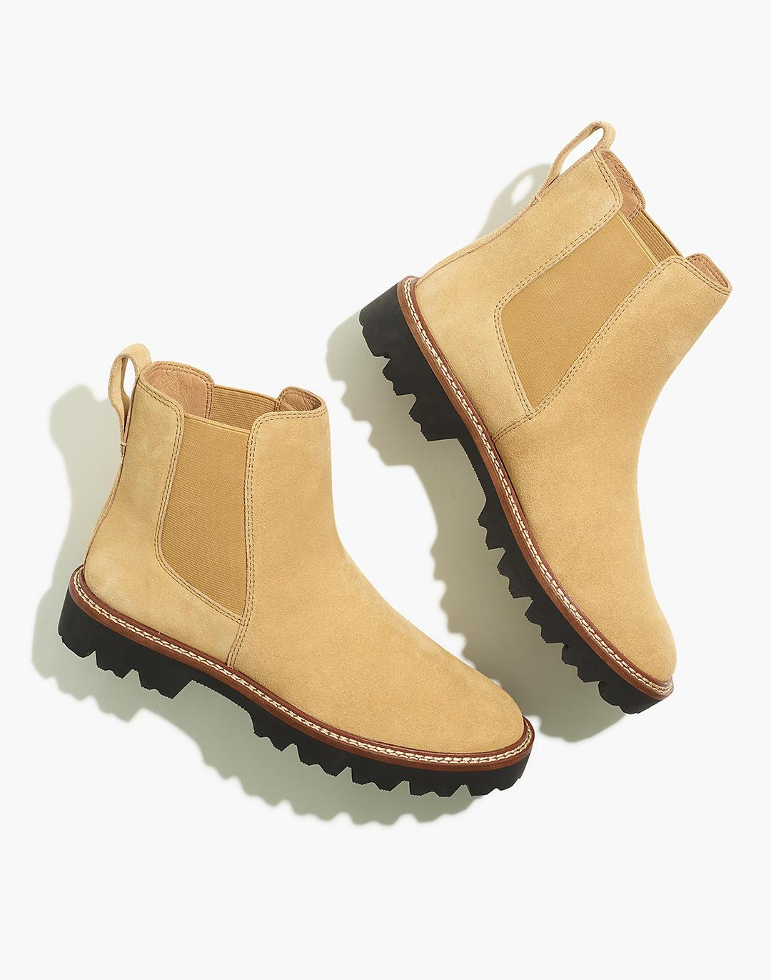 The Citywalk Lugsole Chelsea Boot in Suede