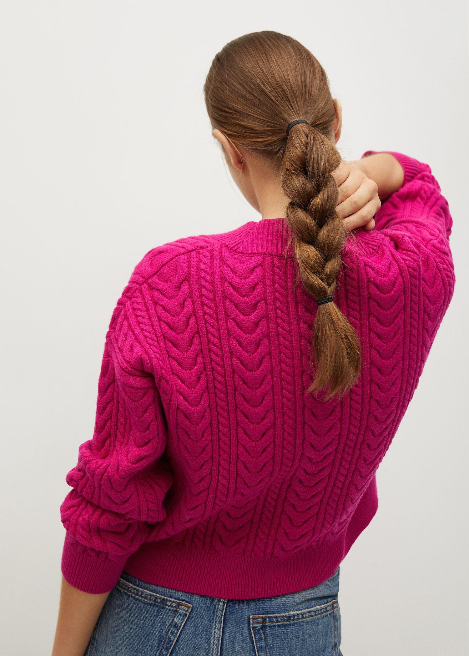 Combined knitted cardigan 2