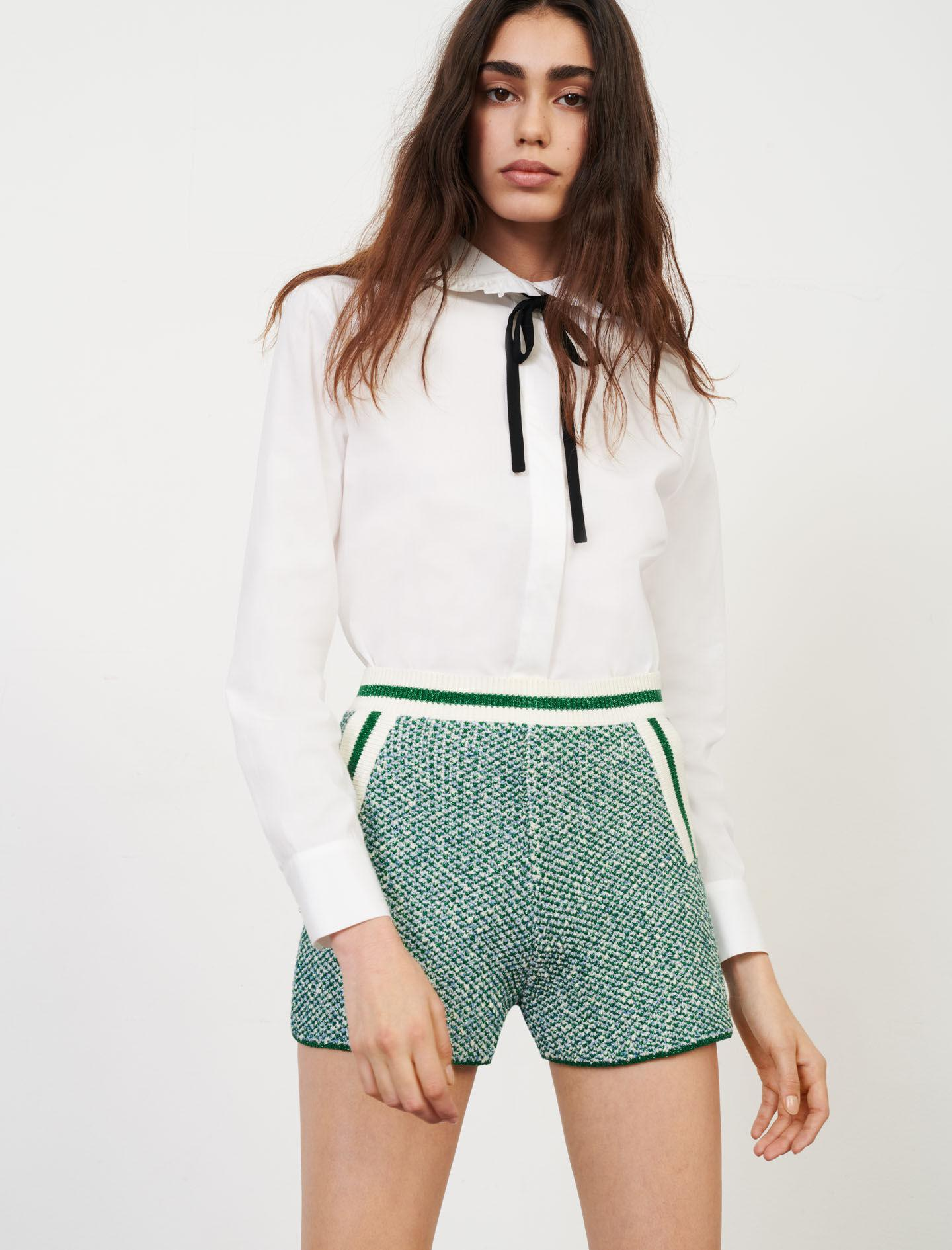 KNIT SHORTS WITH CONTRASTING BANDS