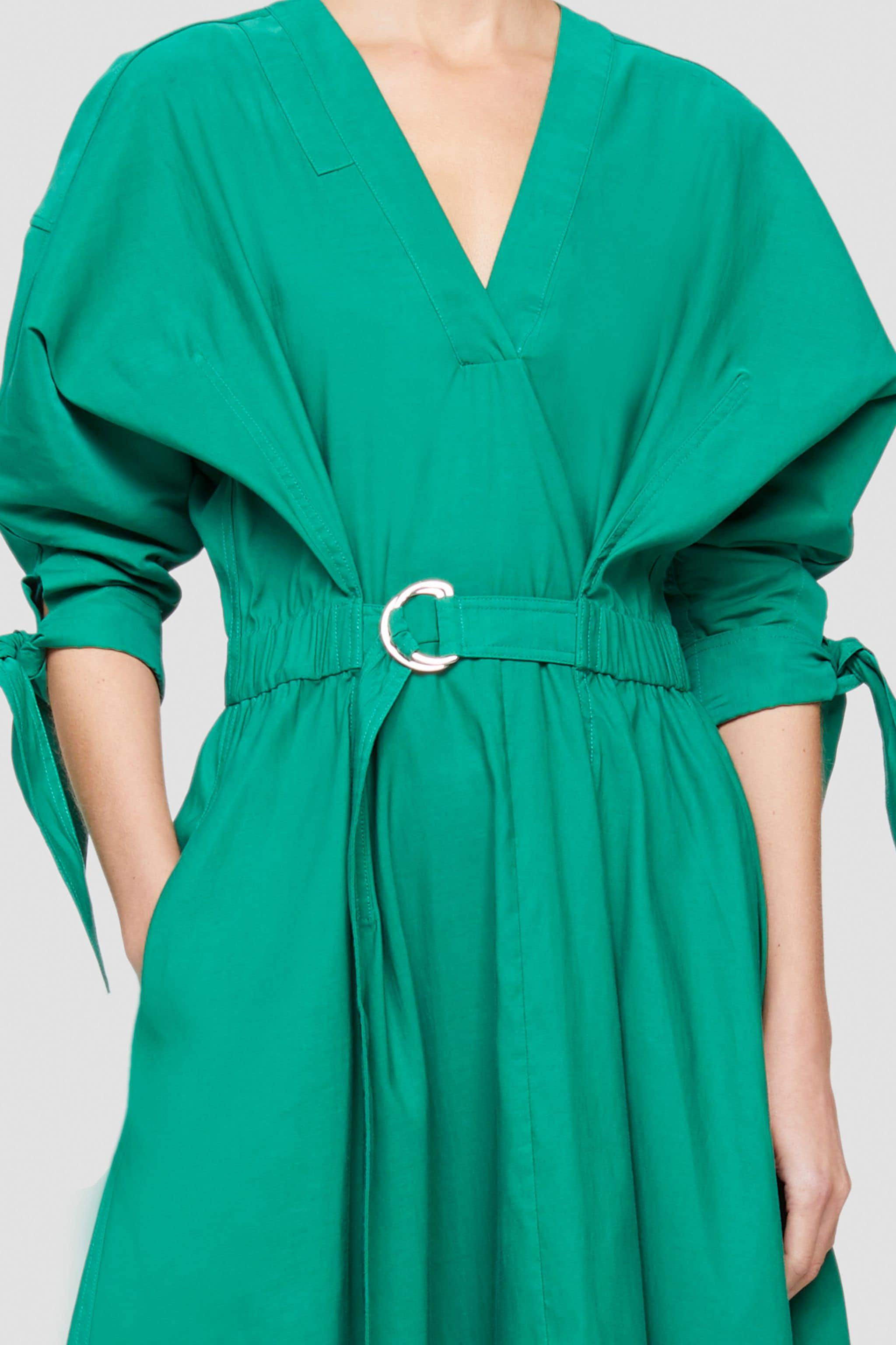 Belted Mid Length Dress 4