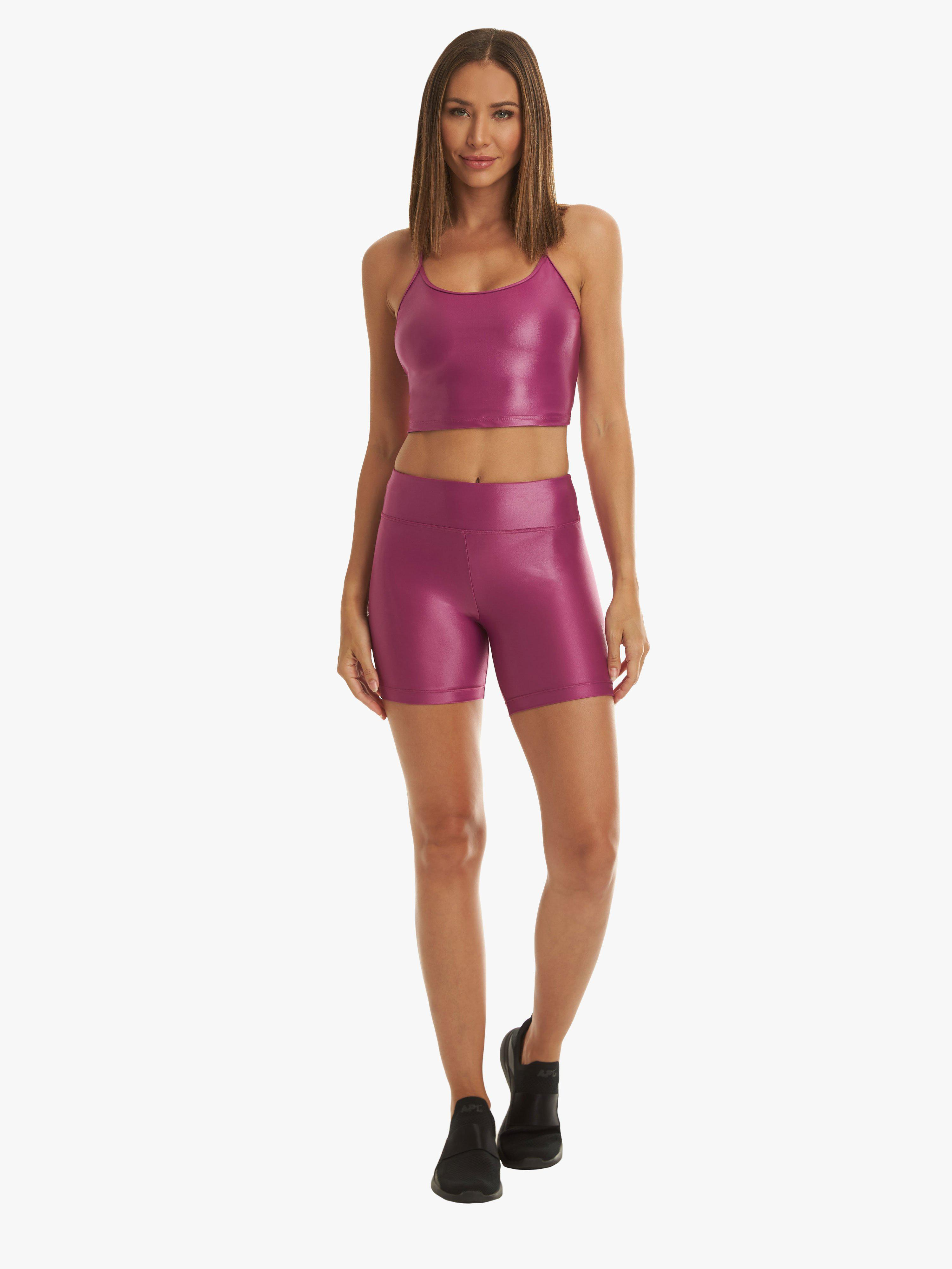 Slalom High Rise Infinity Shorts - Rose Orchid