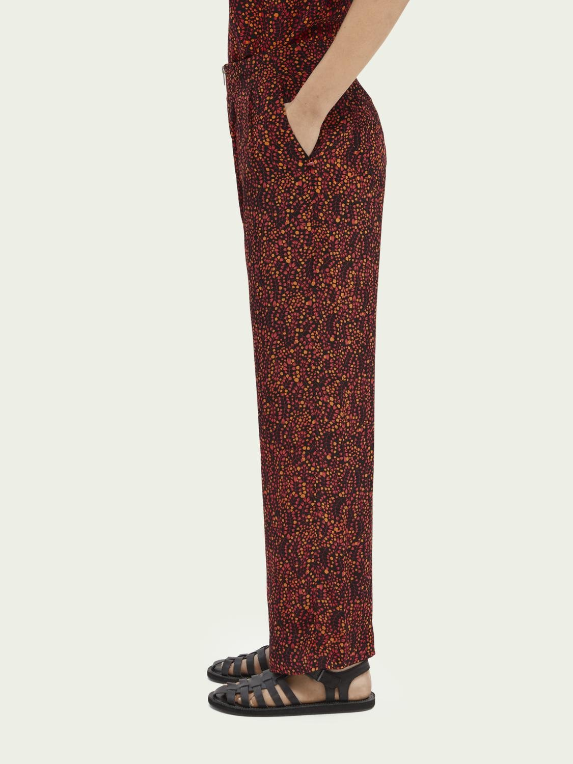 Printed mid-rise trousers 3