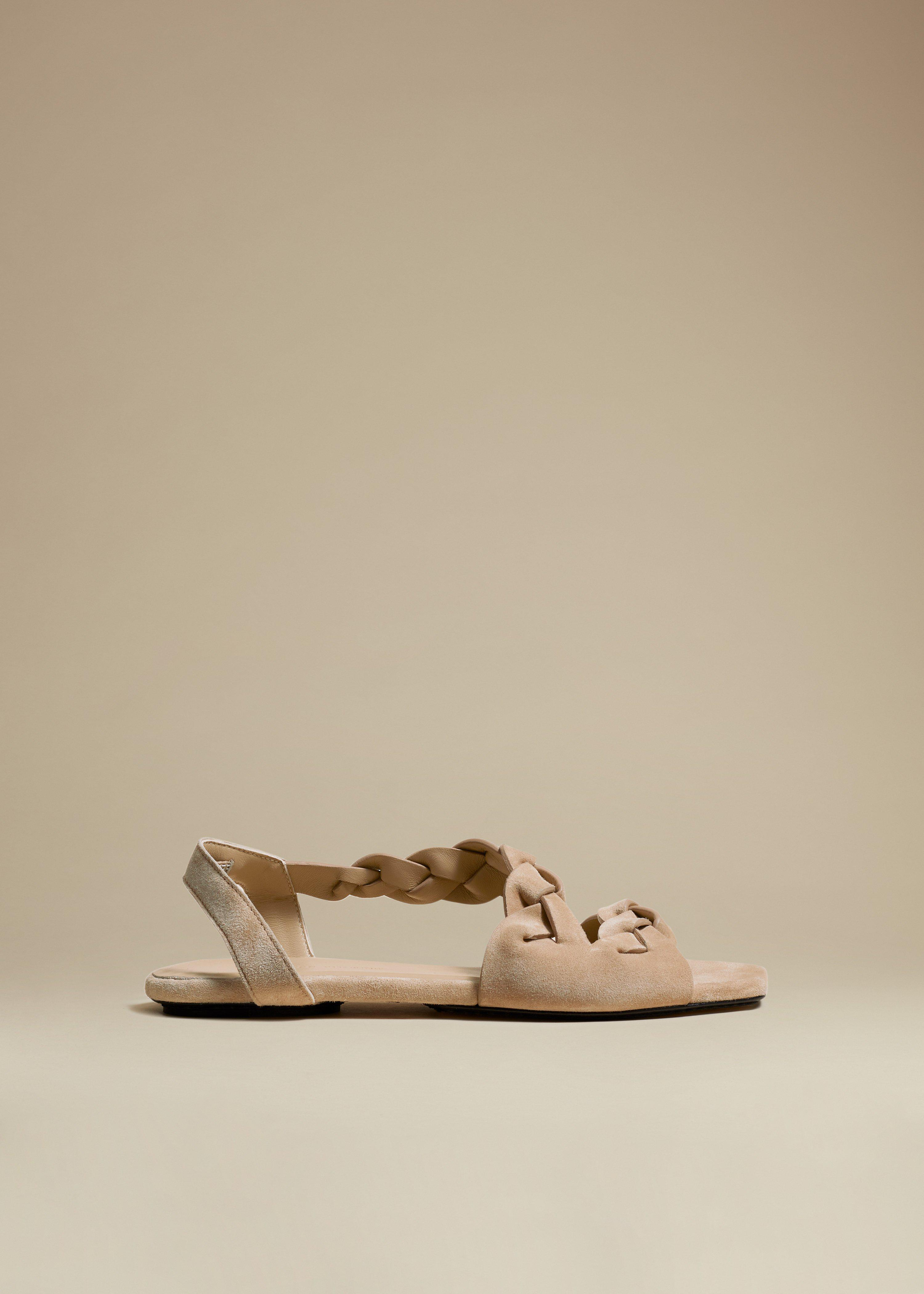 The Torrance Sandal in Biscuit Suede