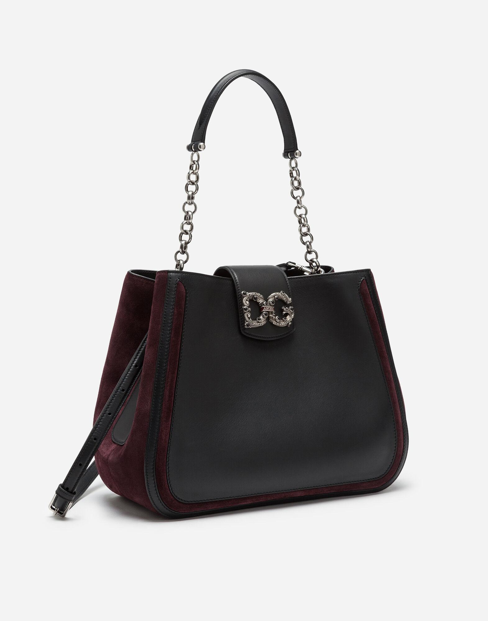 Large DG Amore bag in mixed materials 1