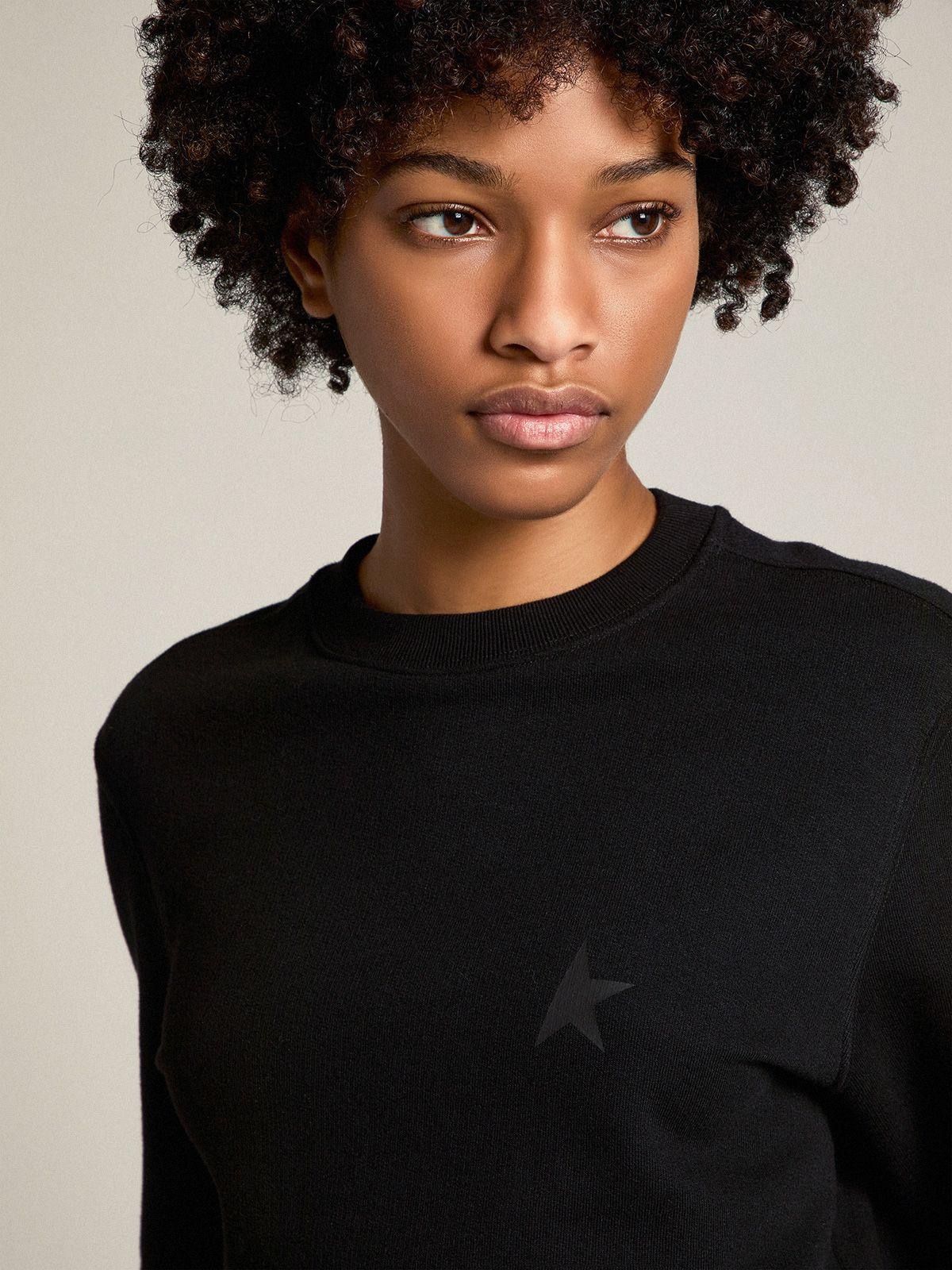 Black Athena Star Collection sweatshirt with tone-on-tone star on the front