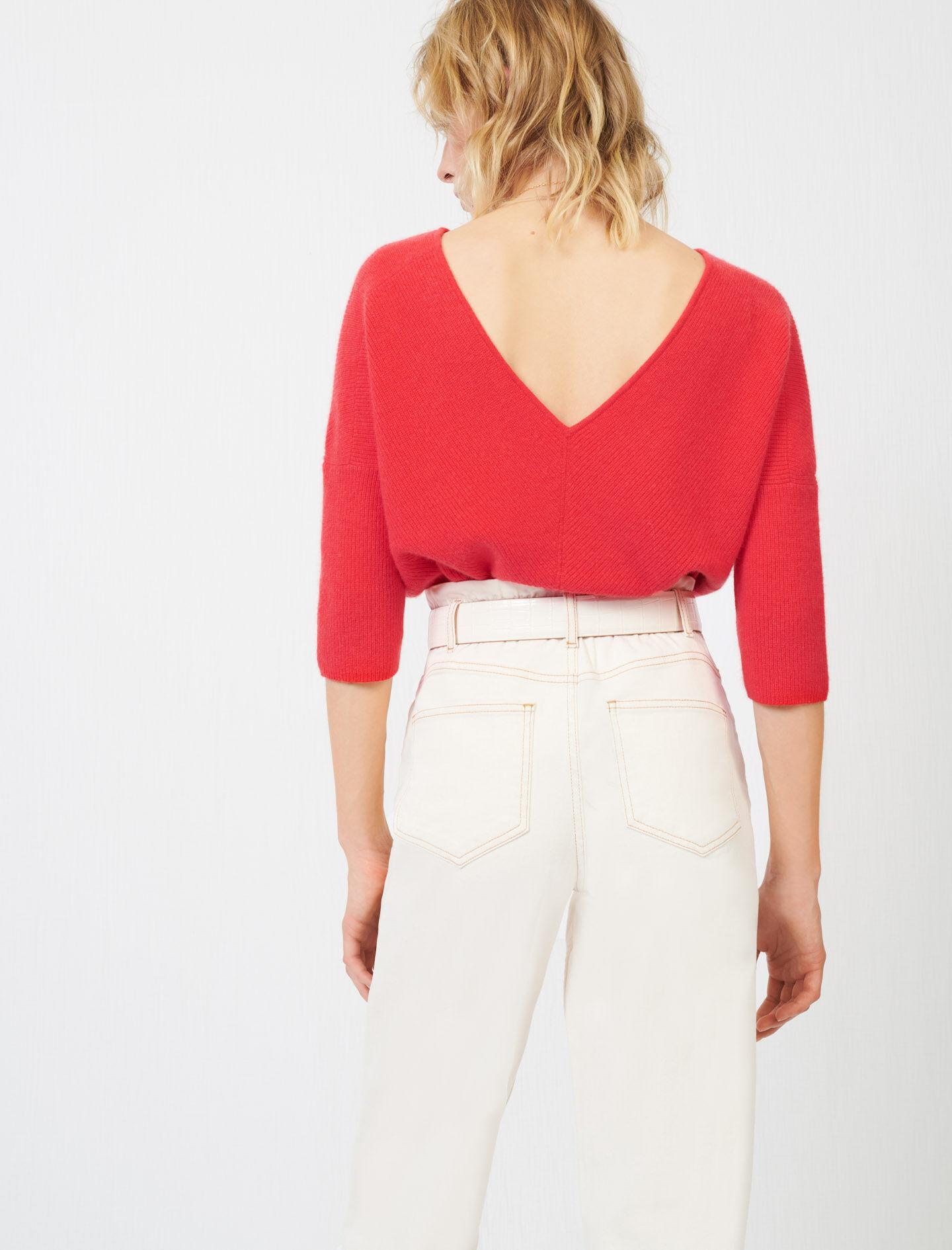 LOW-BACK CASHMERE SWEATER