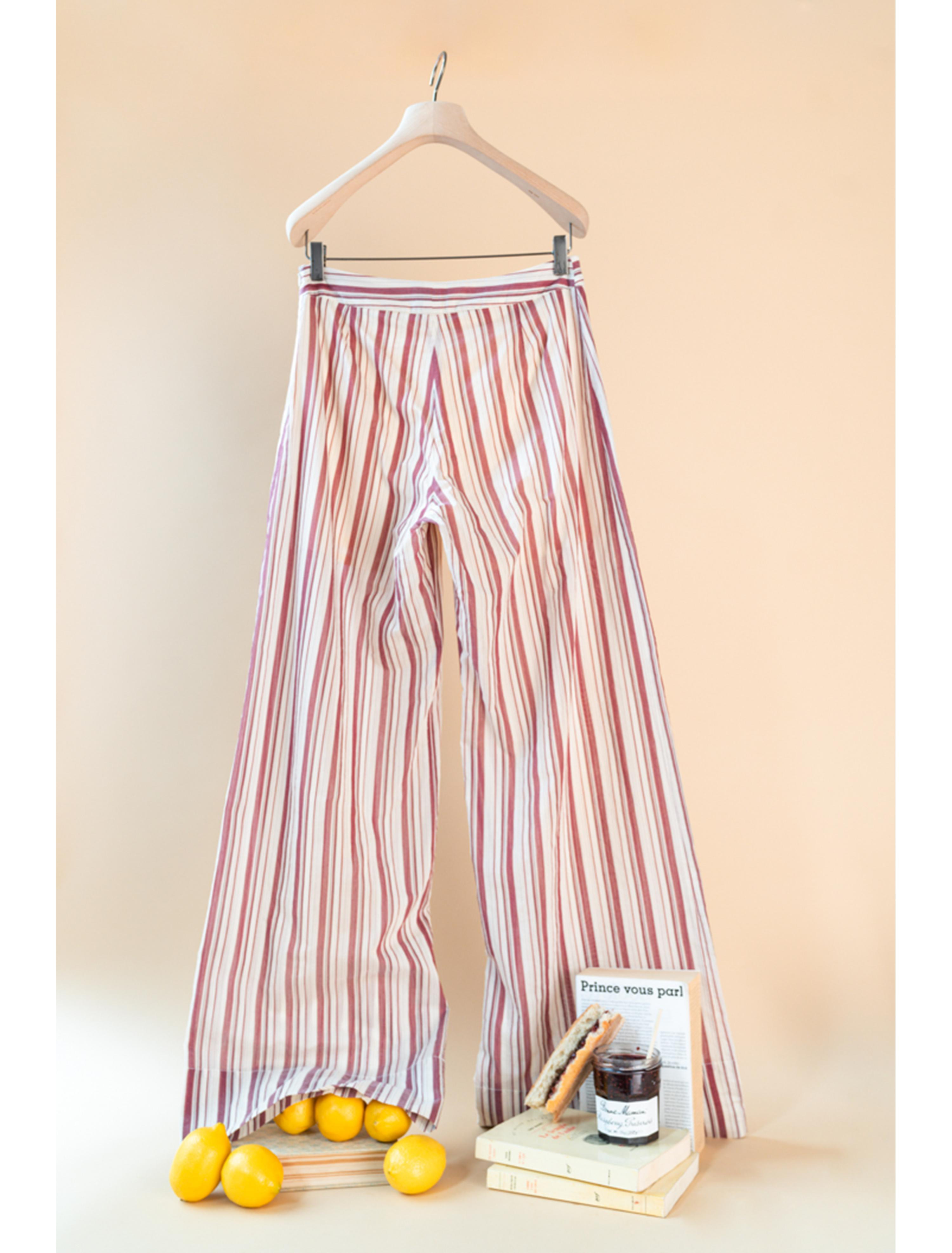 THE ADA TAILORED PANTS COTTON STRIPES 1