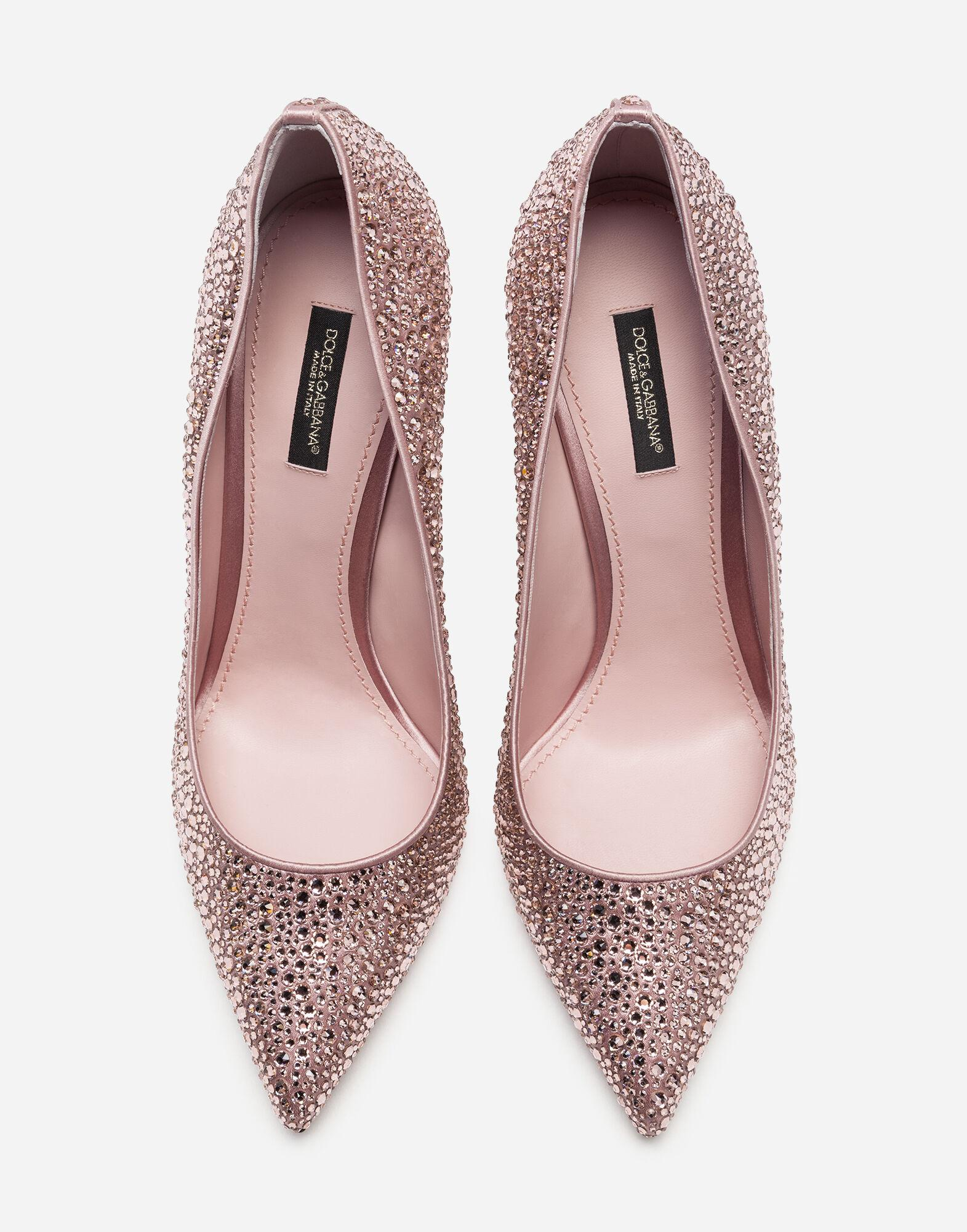 Pumps in satin and crystal 3