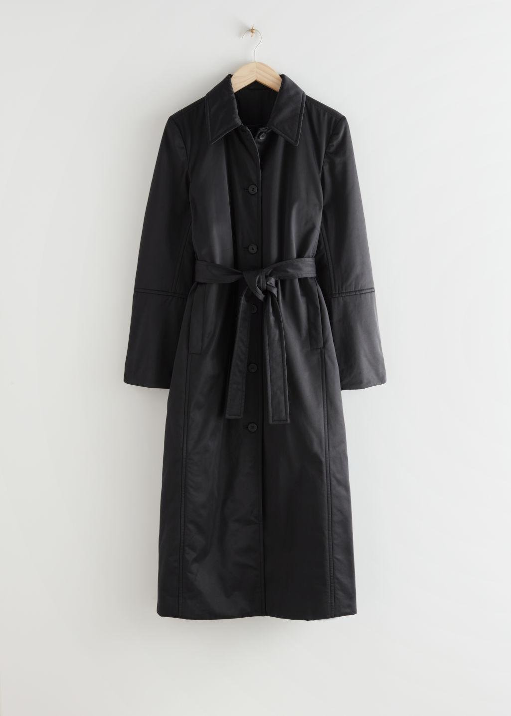 Fitted Belted Padded Coat