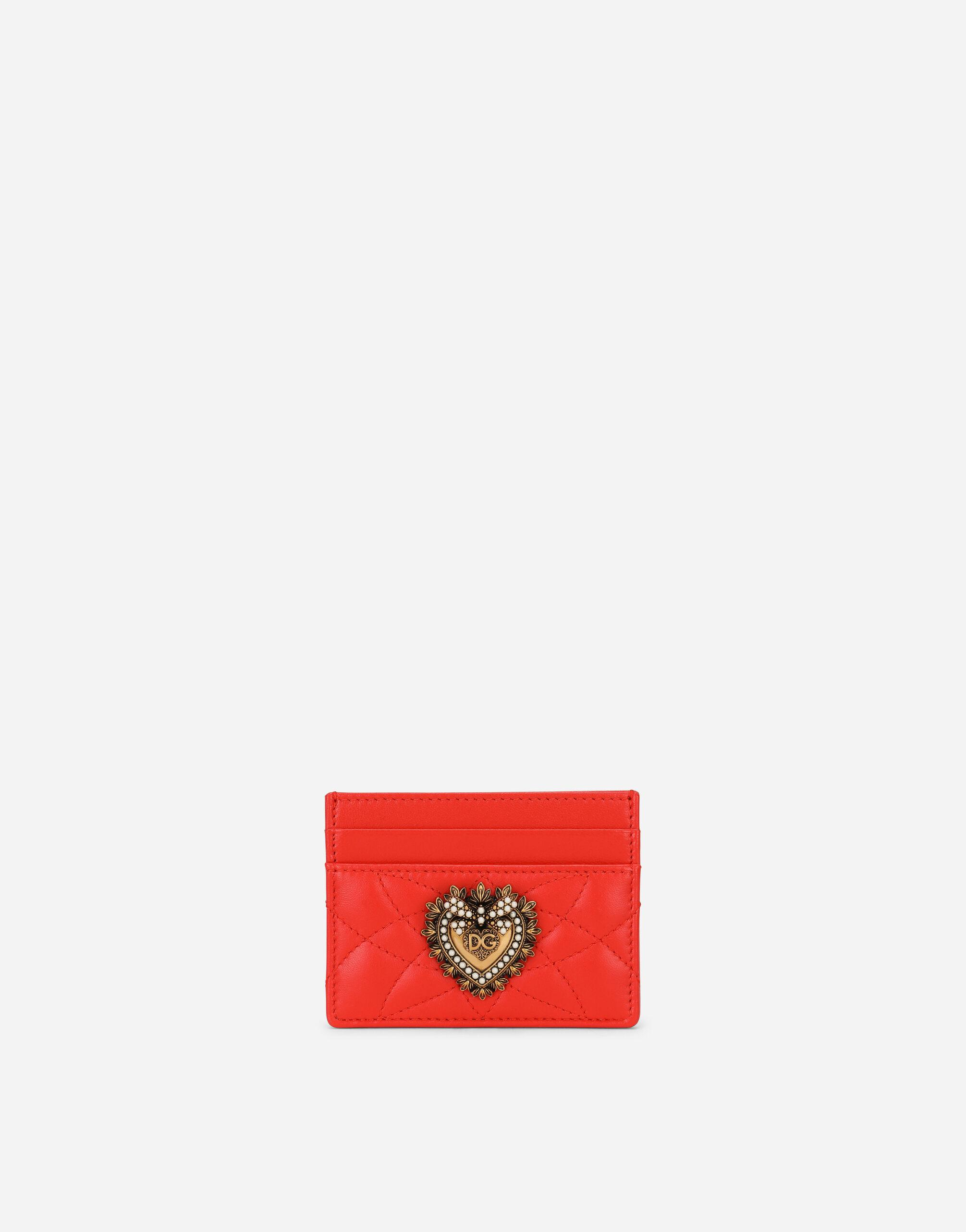 Devotion card holder in quilted nappa leather