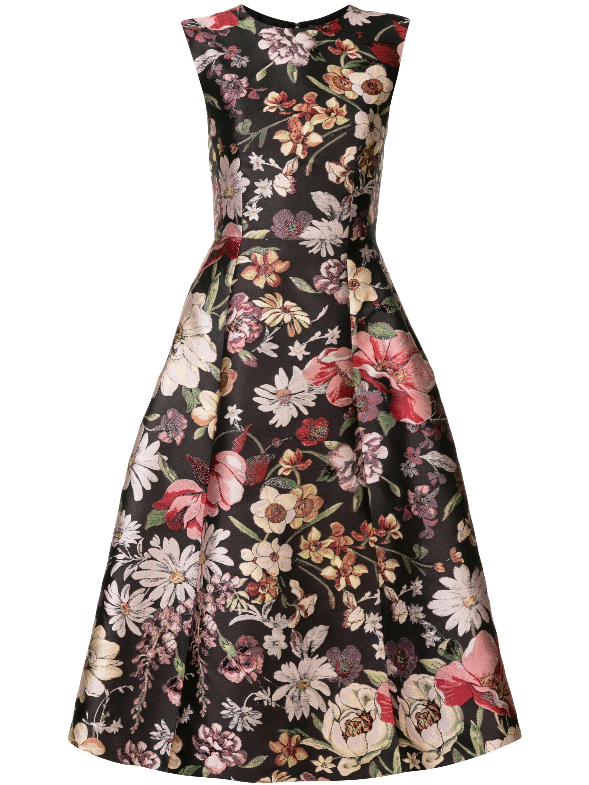 FIT AND FLARE DRESS IN JACQUARD 1