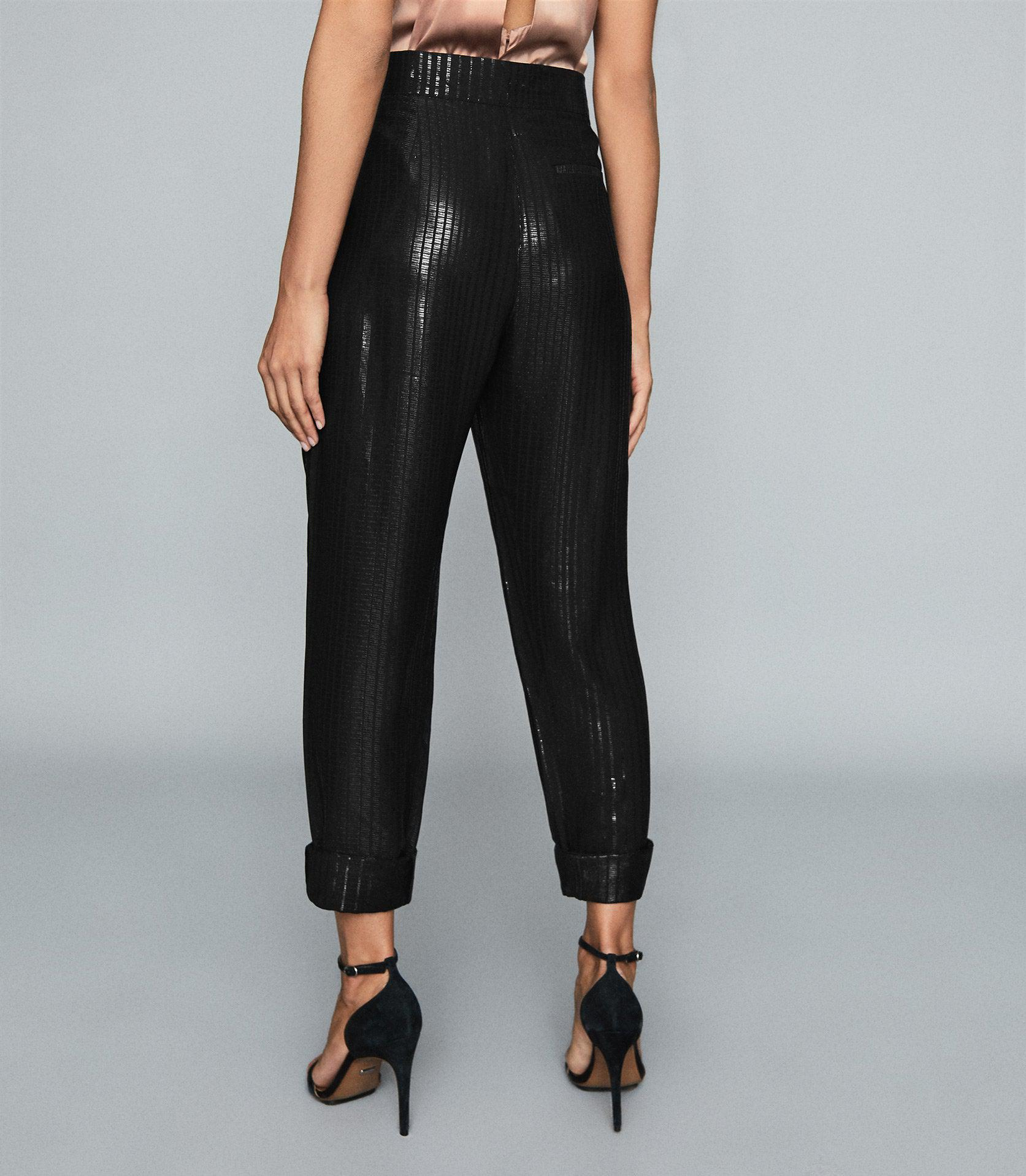 PENNIE - TAPERED SHIMMER TROUSERS 2