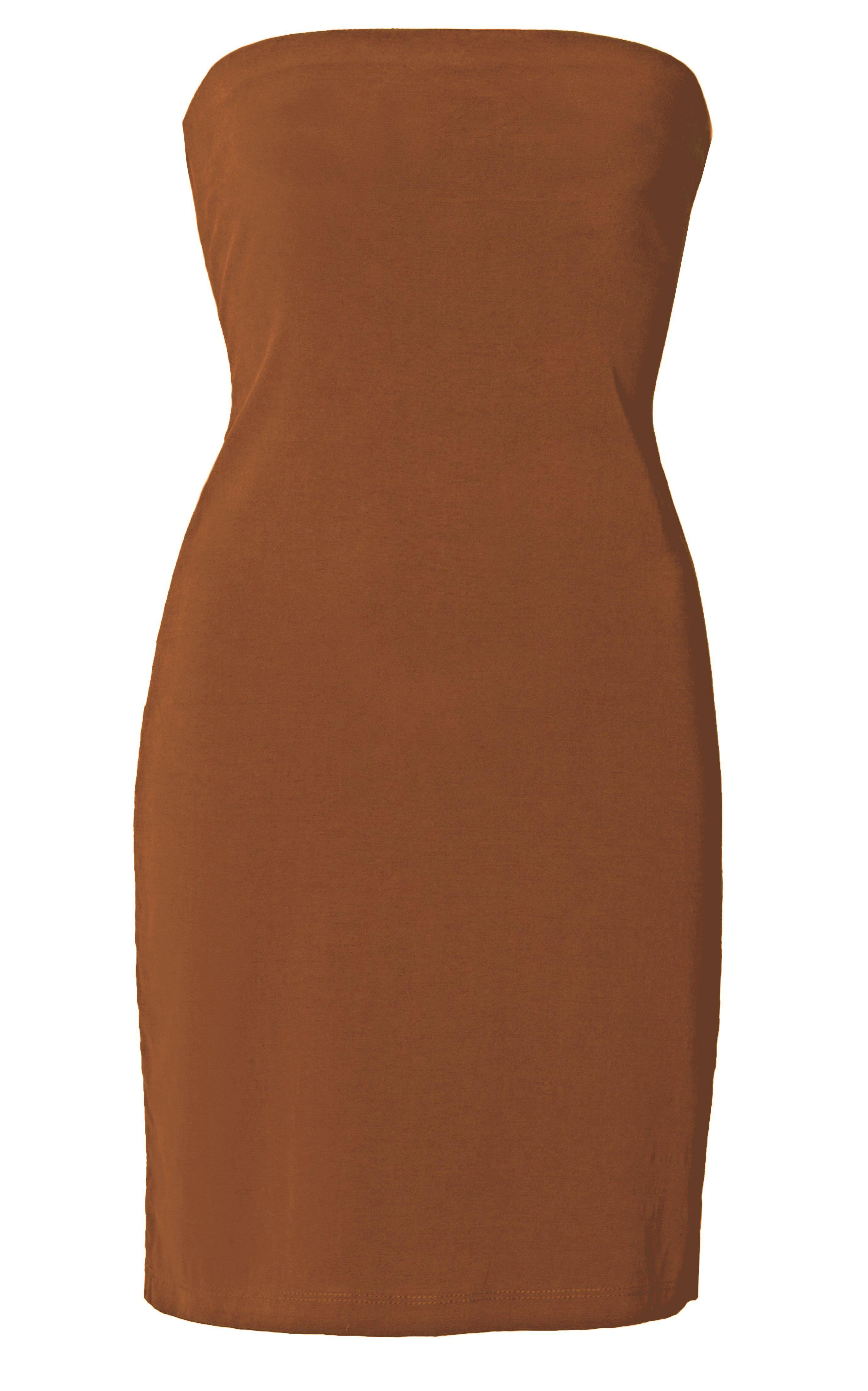 The Ritts Strapless Dress in Stretch Cupro