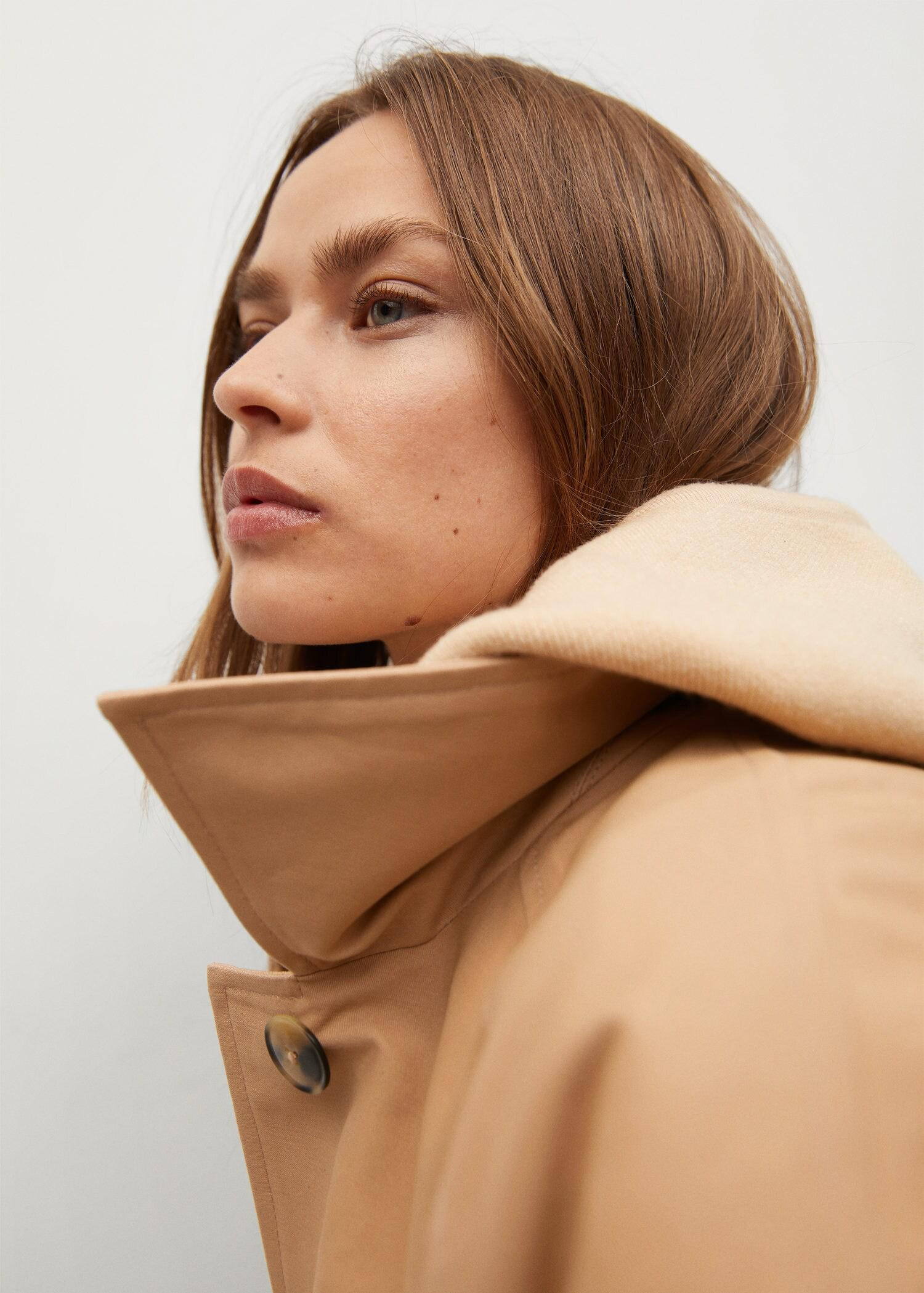 Water-repellent cotton trench 6