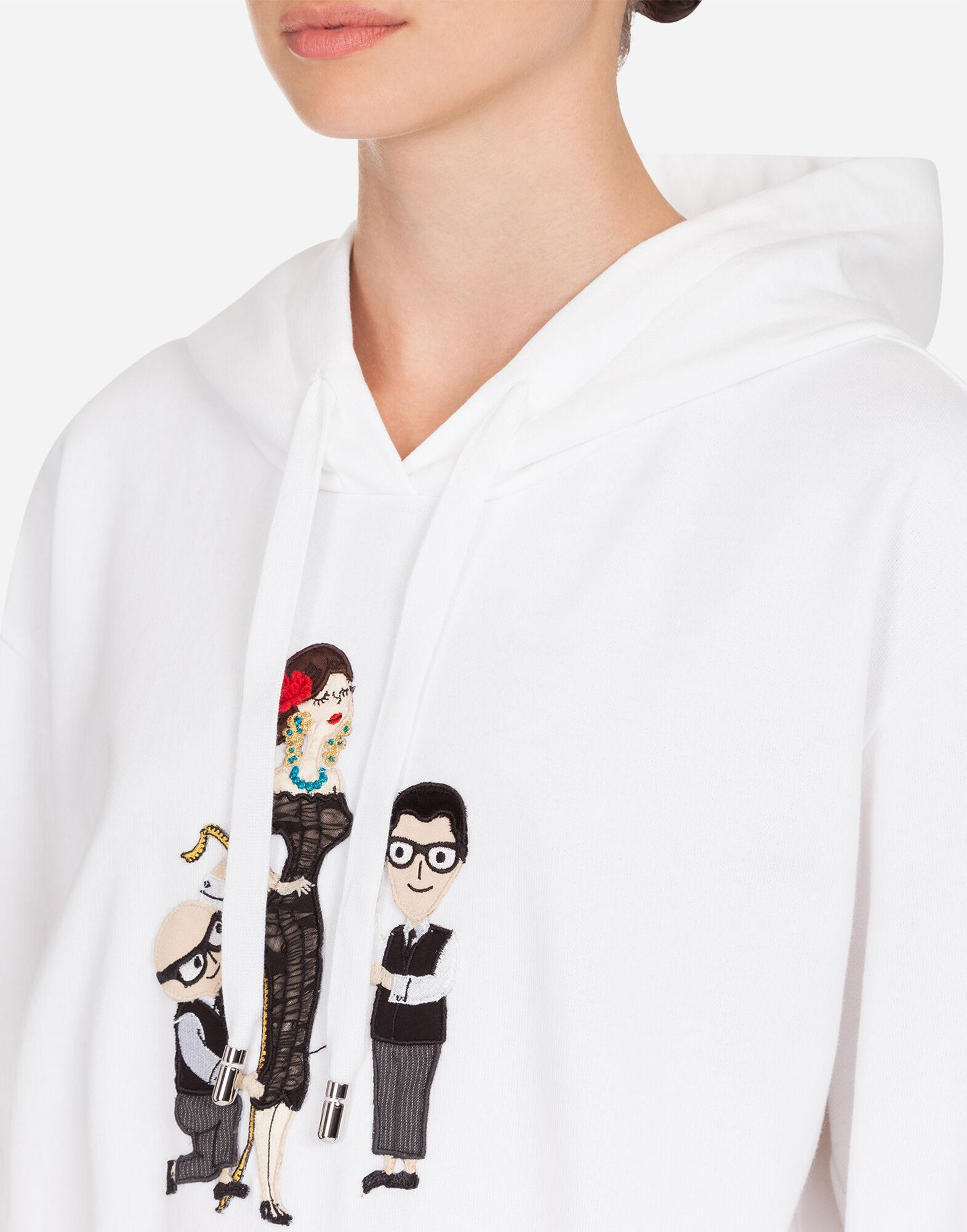 Jersey hoodie with DG Family detail 4