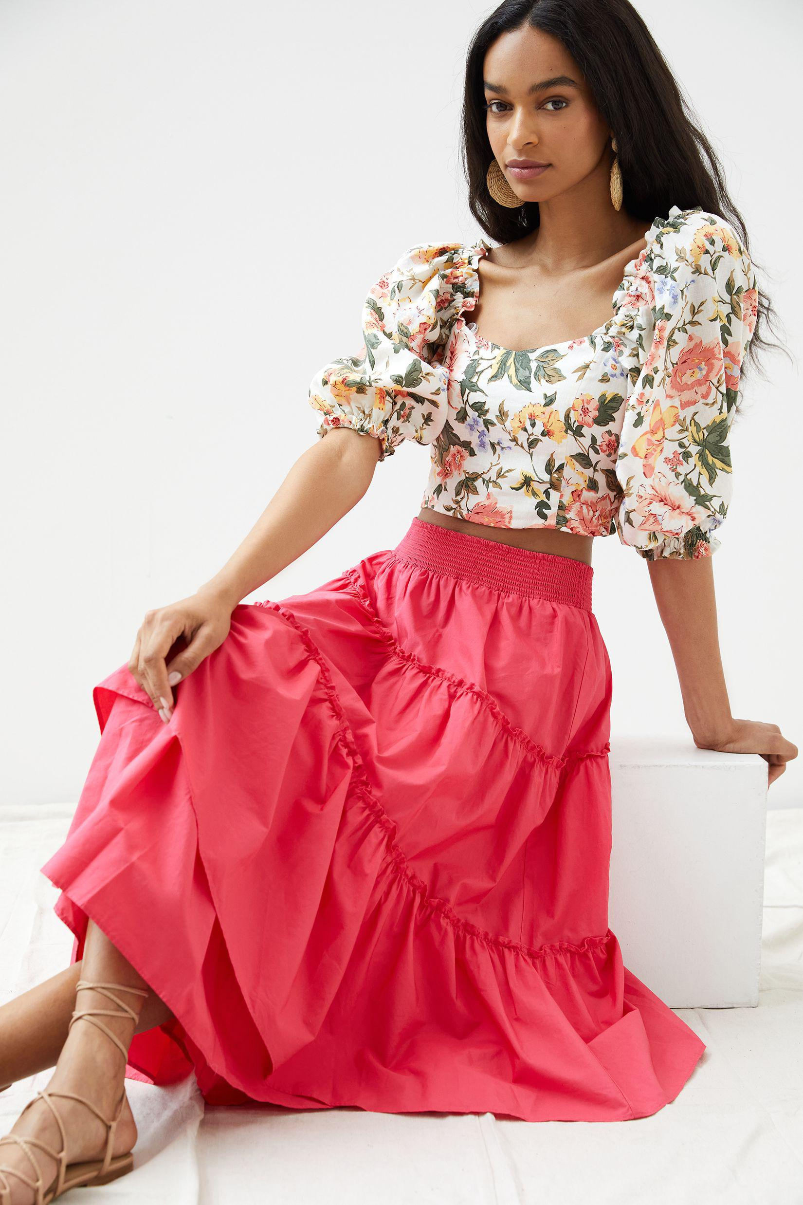 Maeve Tiered Maxi Skirt