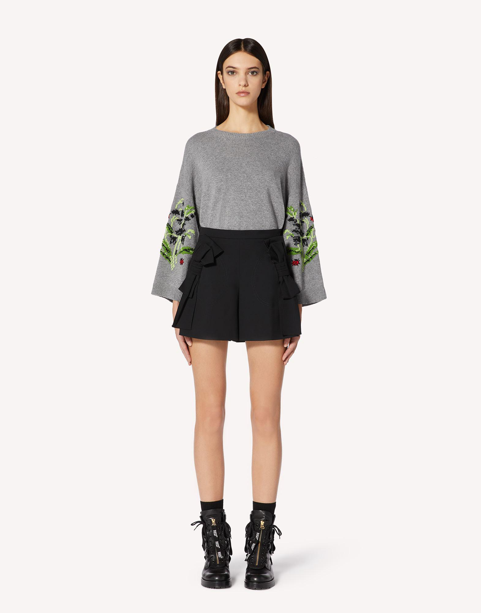 FLORAL JACQUARD WOOL-BLEND SWEATER