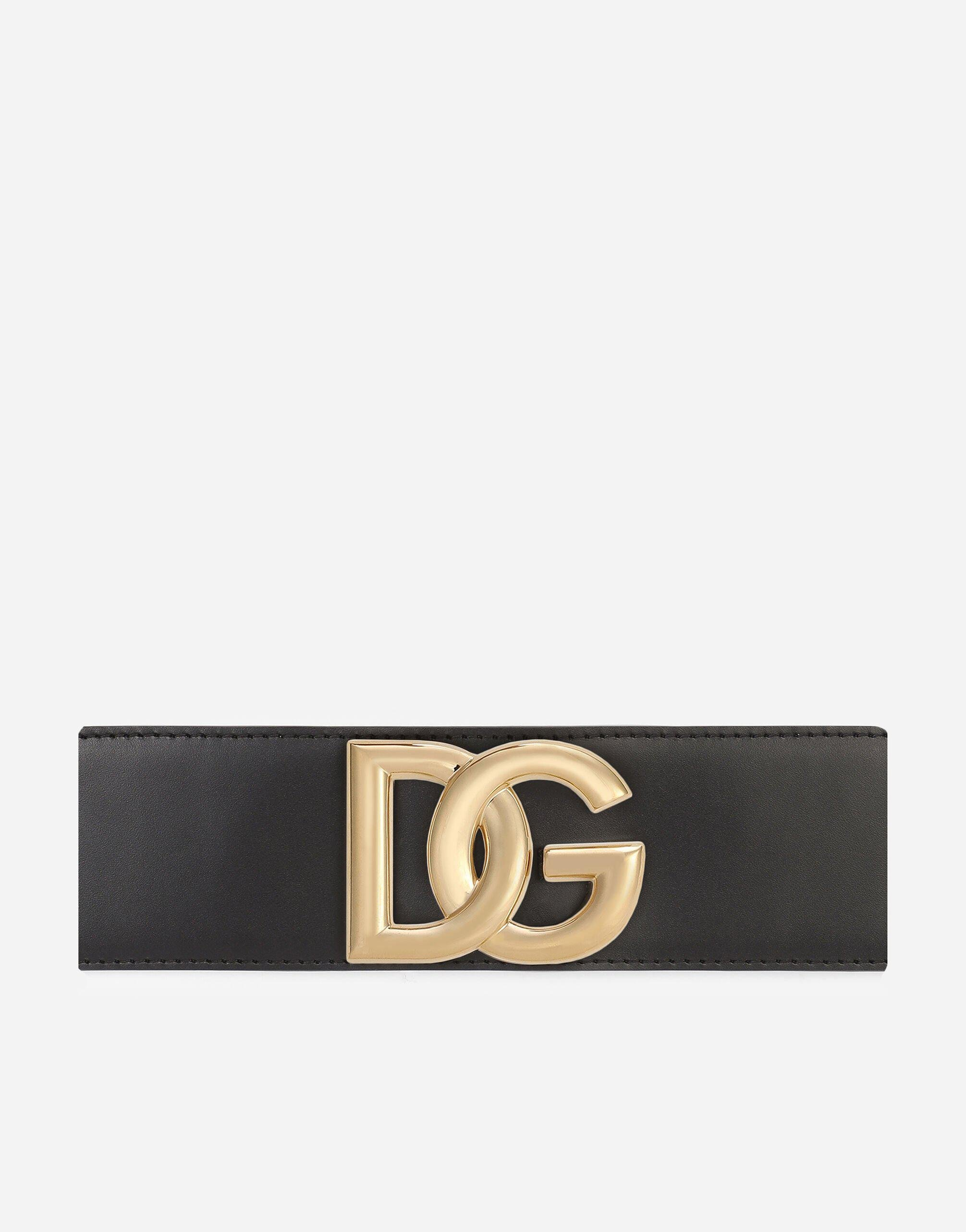 Stretch band and lux leather belt with DG logo