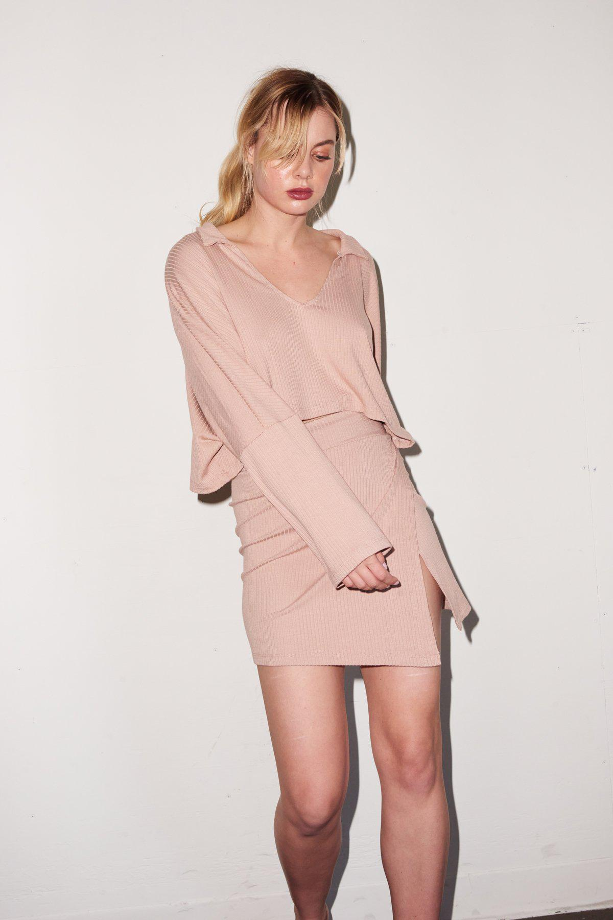 Carusso Wrap Skirt - Nude 4
