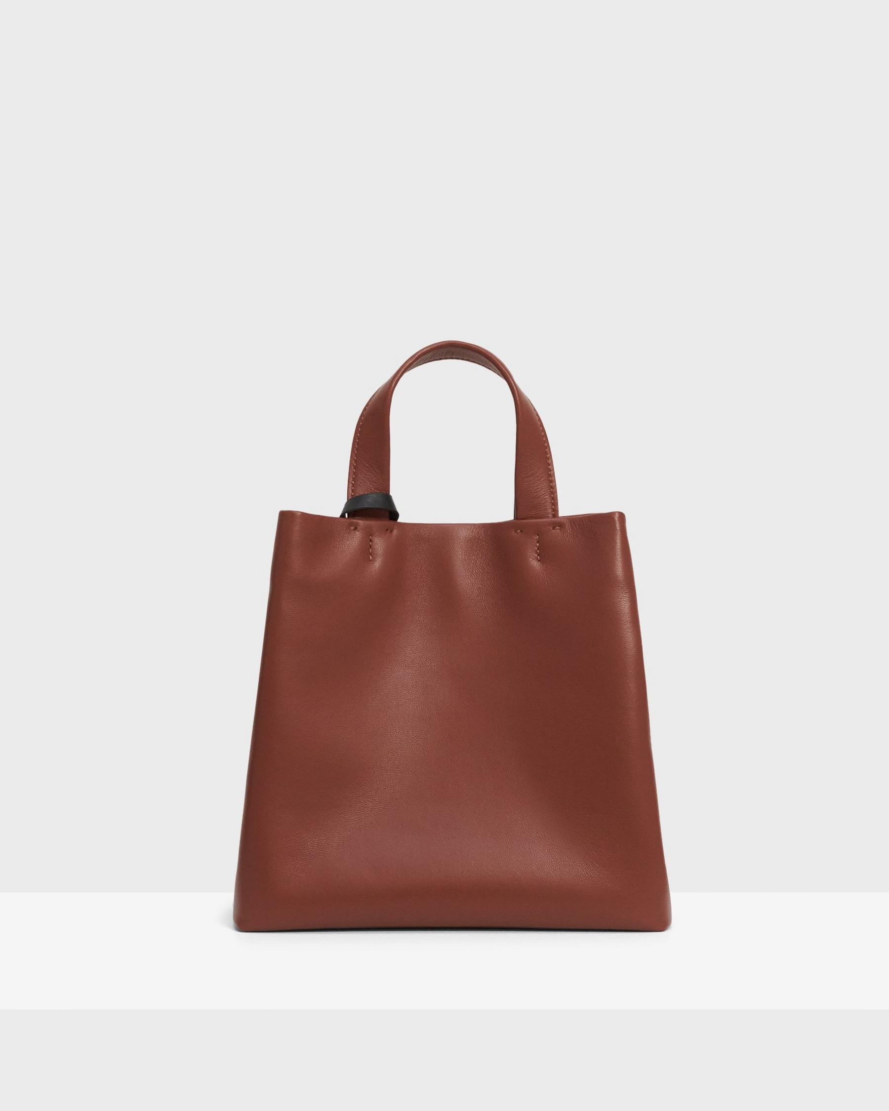 Small Simple Tote in Leather 5