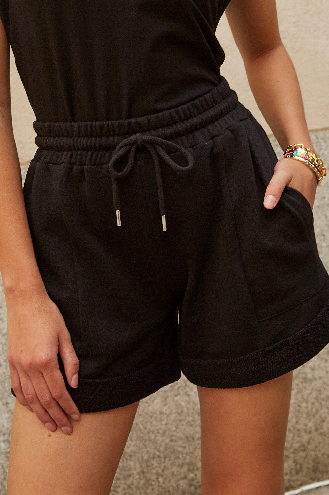 The Roll It Up Short in Black