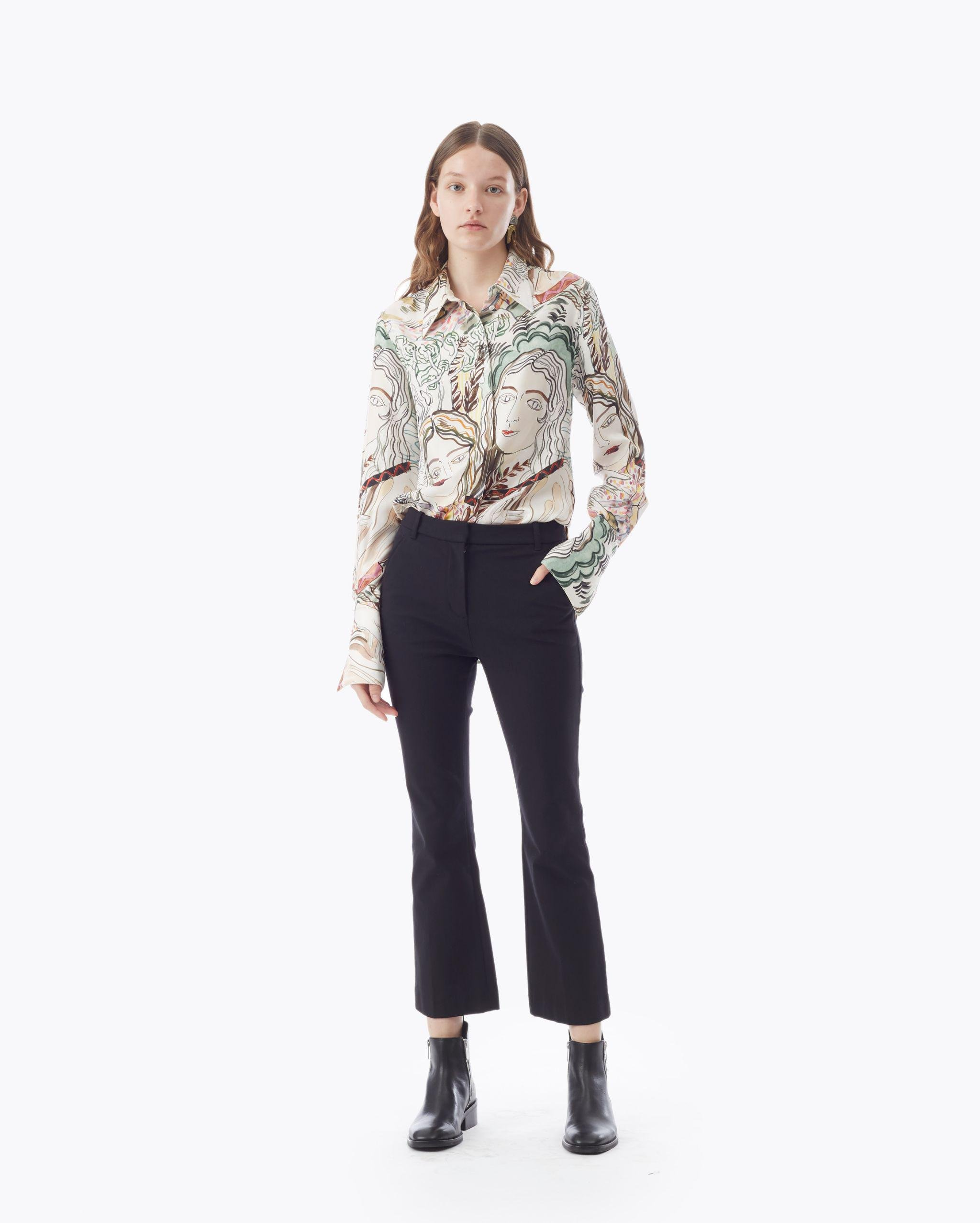 Cropped Flared Trouser