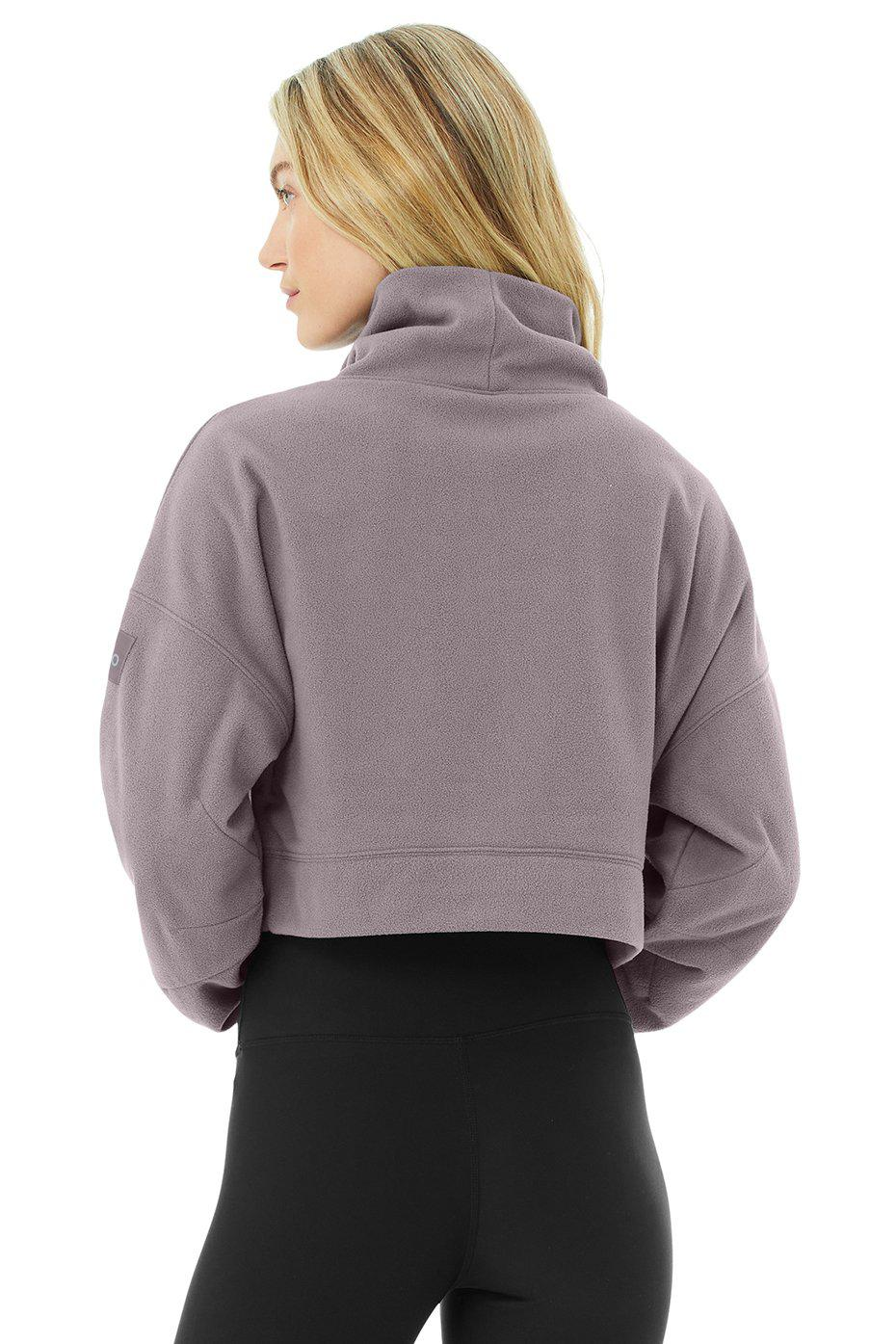 Cropped Warm Up Pullover - Purple Dusk 2