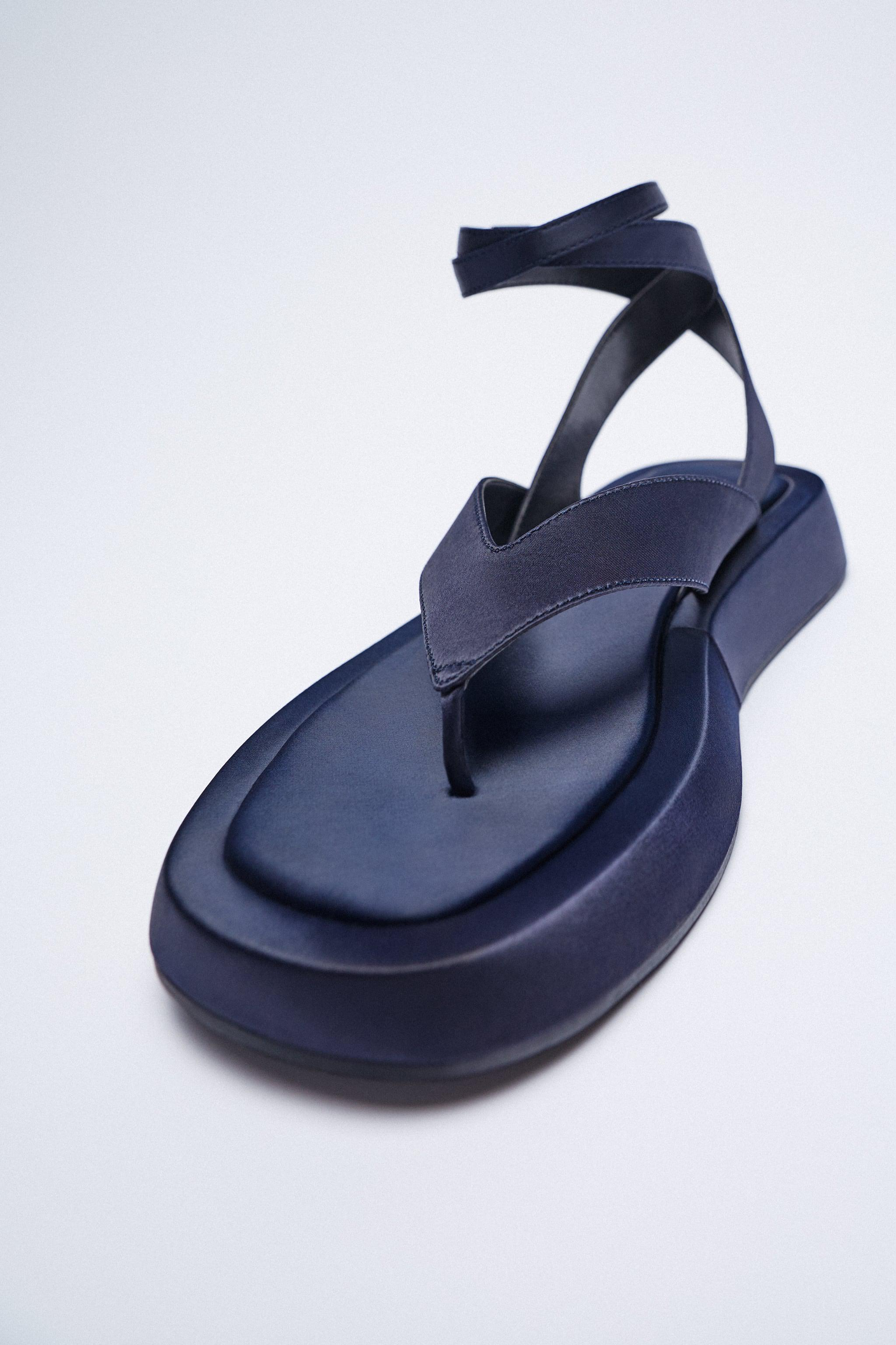 CHUNKY SATIN EFFECT SANDALS 6