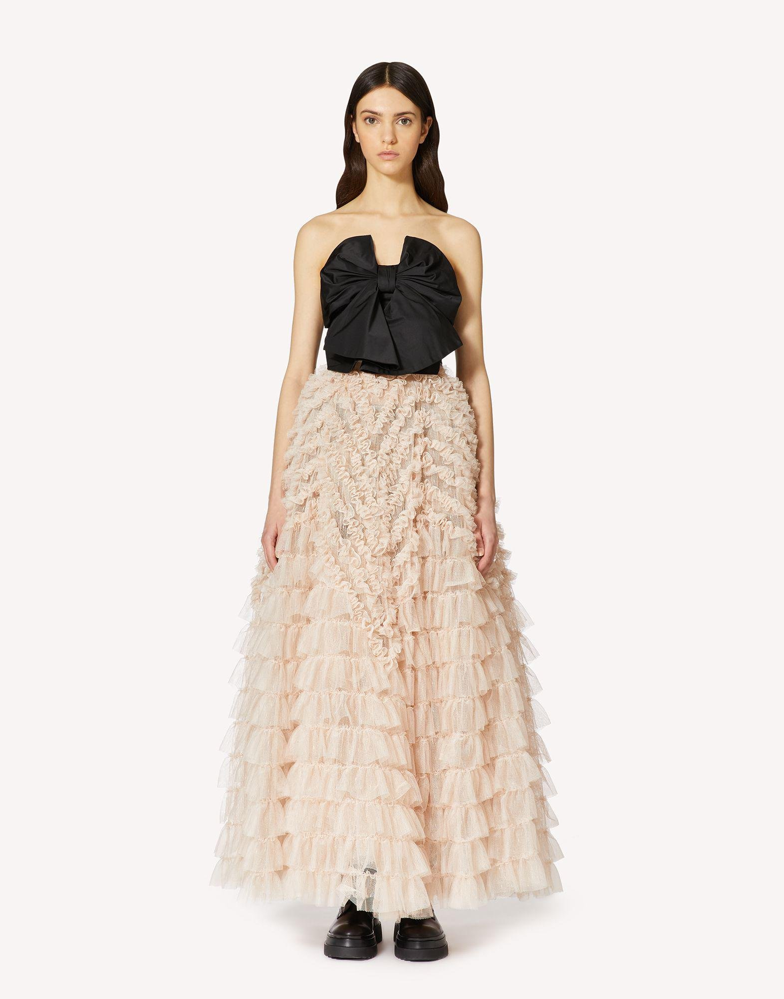 TULLE AND TAFFETA SPECIAL DRESS WITH BOW DETAIL