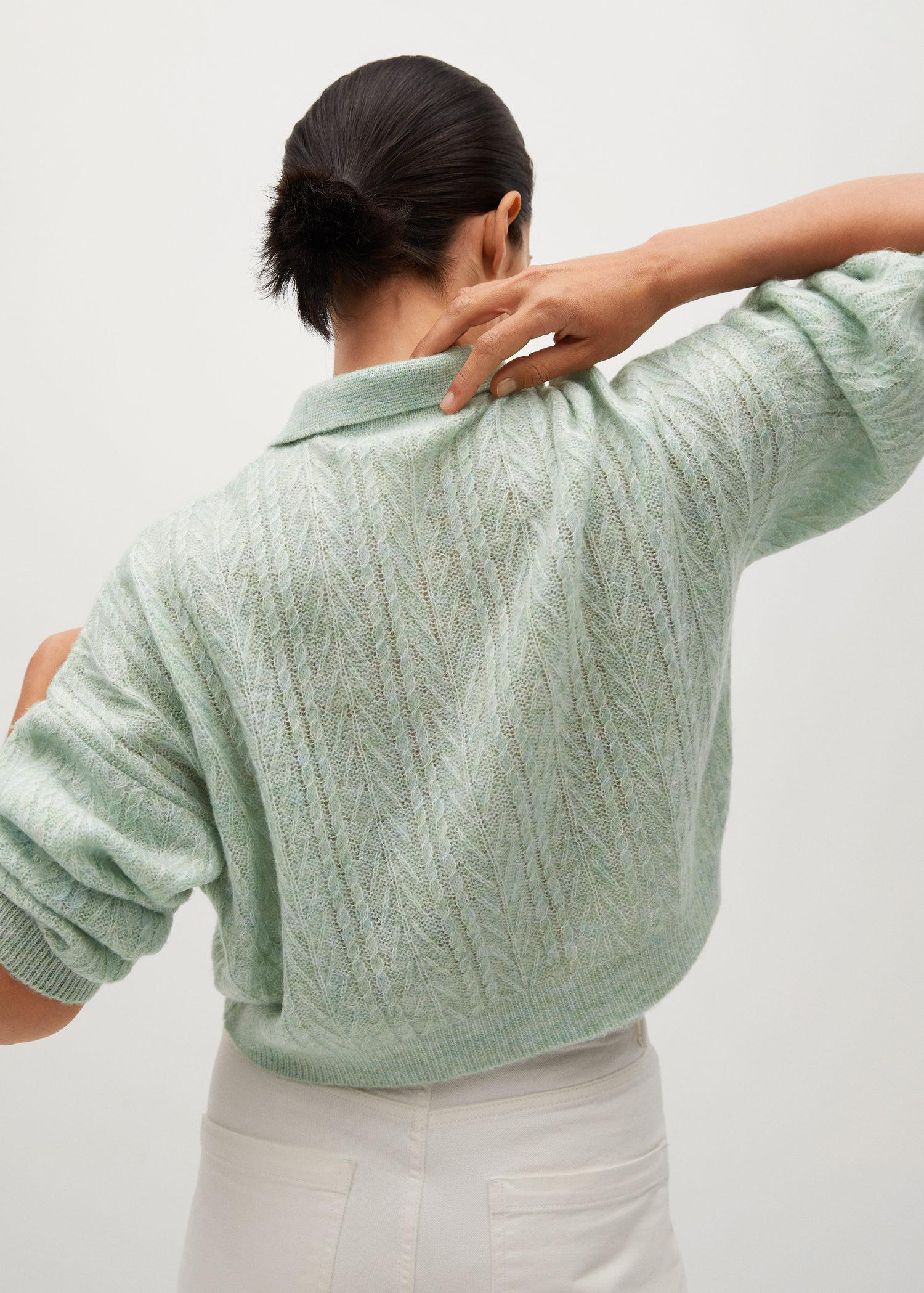 Contrasting knitted polo shirt 2