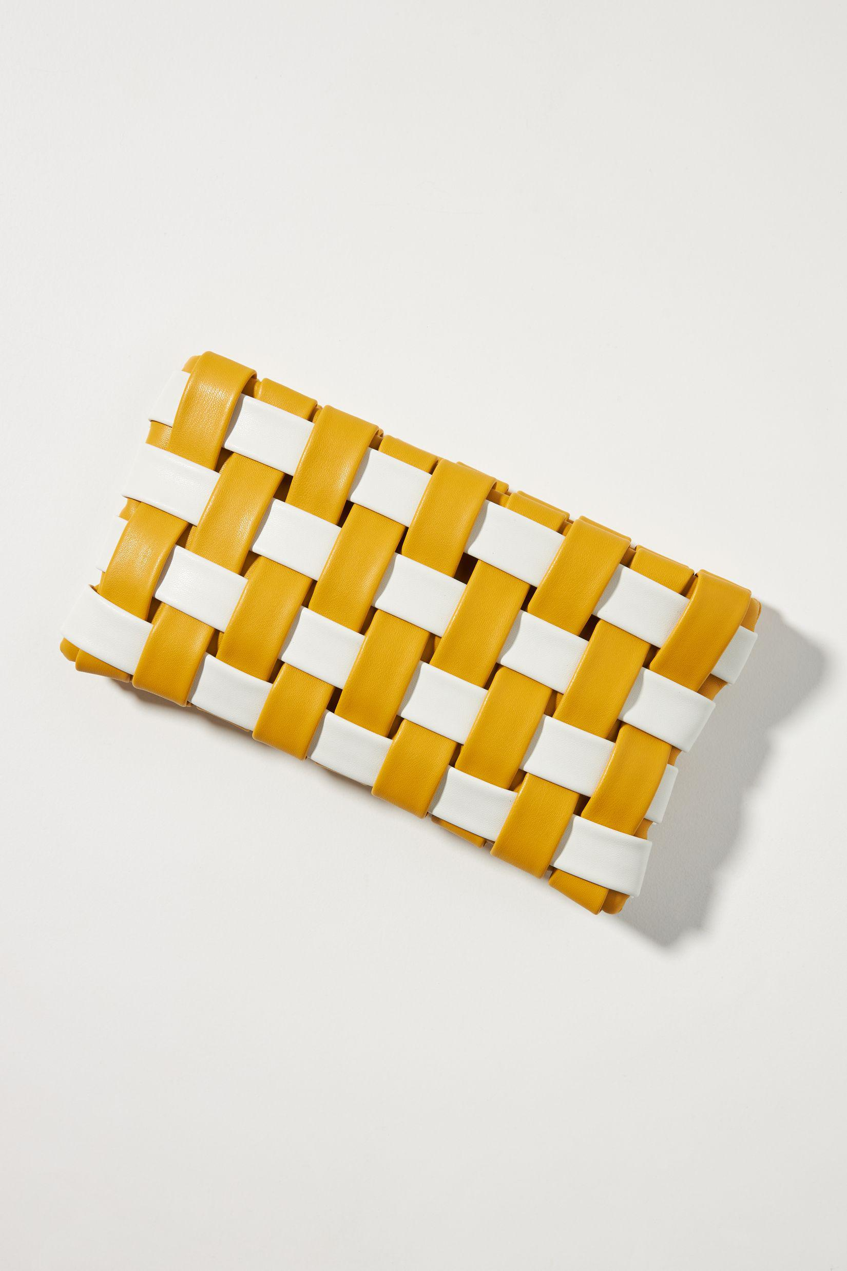 Puffy Woven Clutch