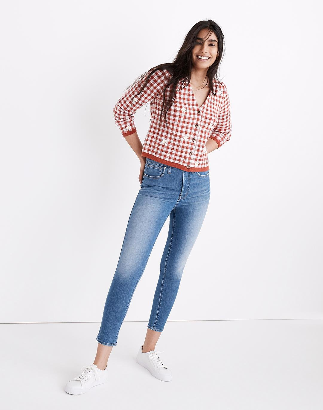 """10"""" High-Rise Skinny Crop Jeans in Welling Wash: Summerweight Edition"""