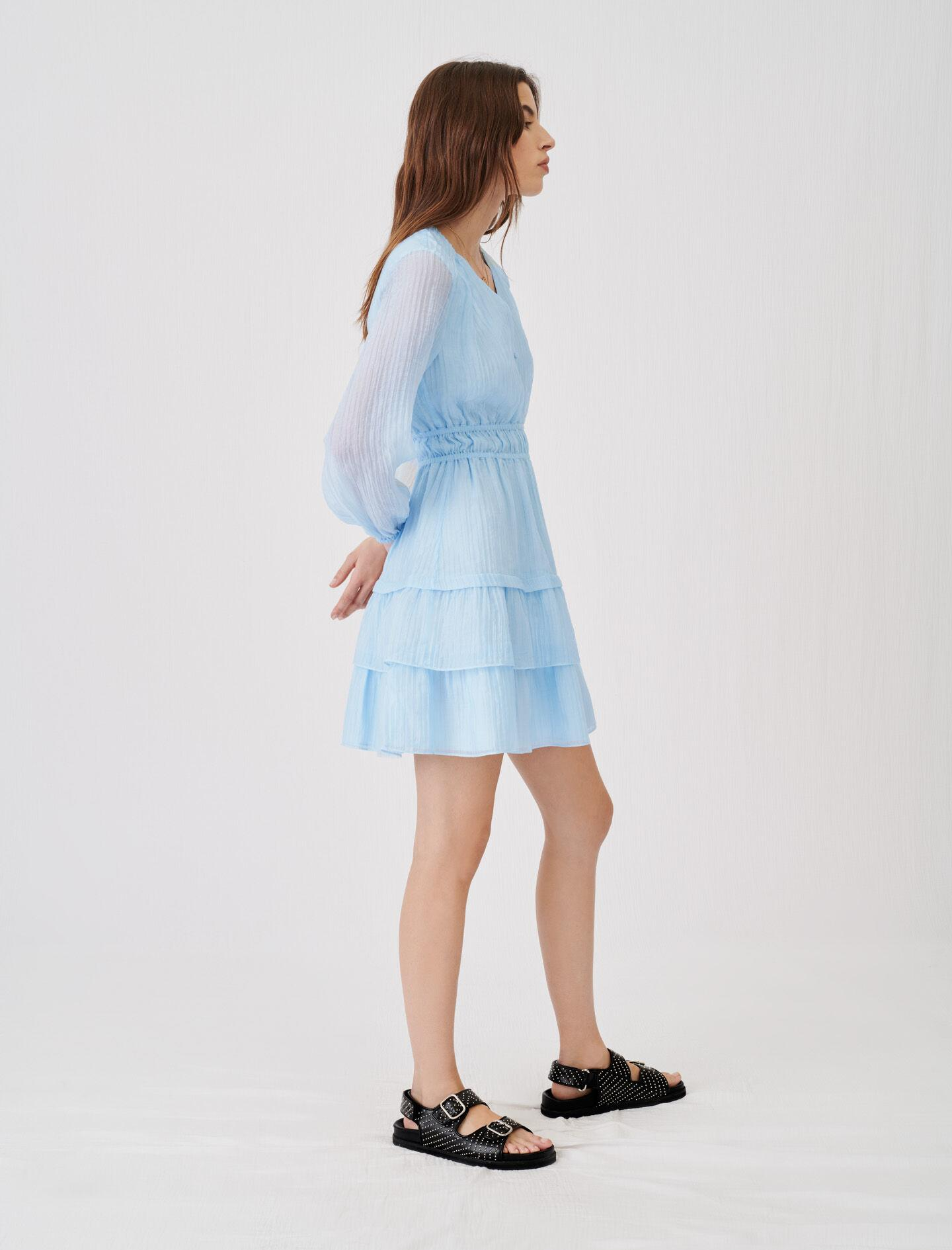 CRINKLE-EFFECT VOILE DRESS WITH RUFFLES 3