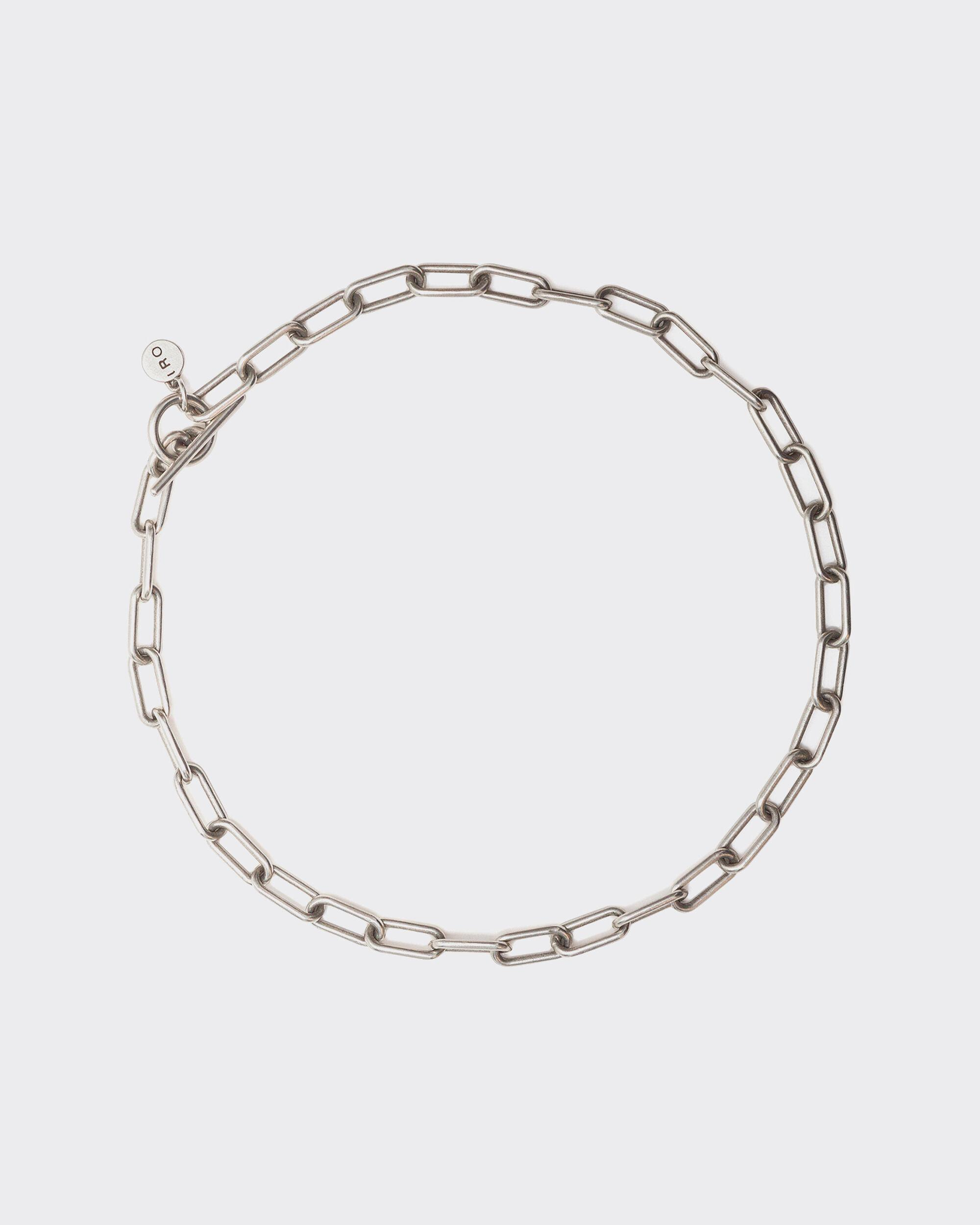 STRONTIO SILVER CHAIN NECKLACE