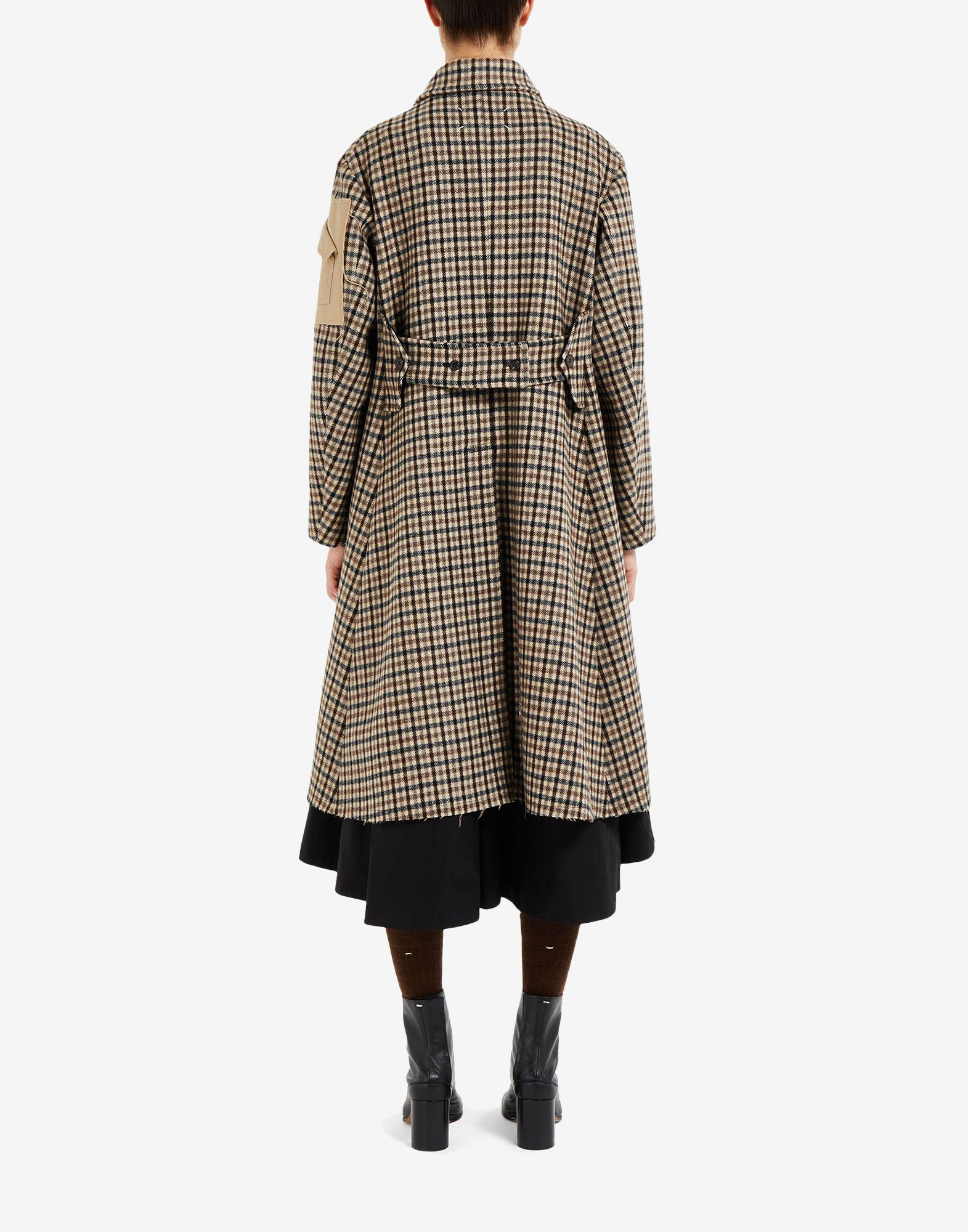 'Memory of' check trench coat 2