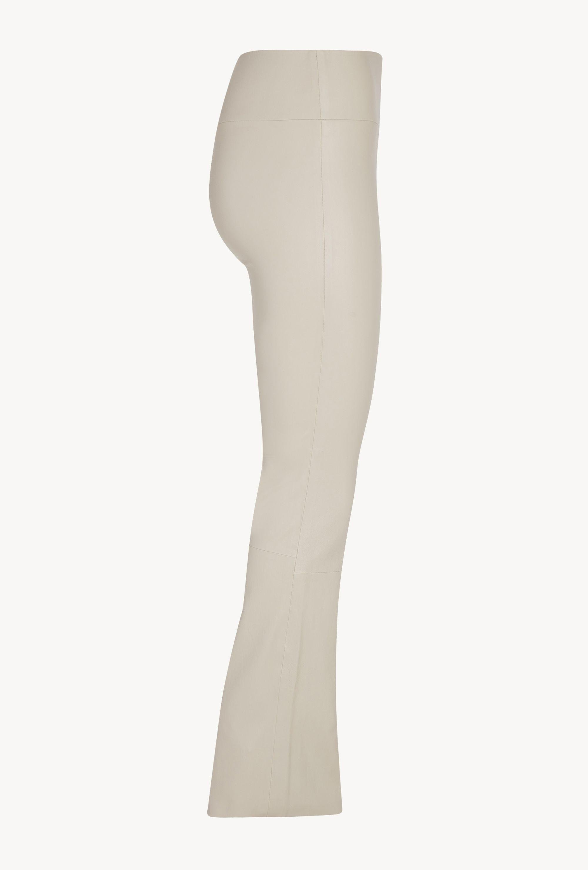 Off White Leather Ankle Flare Legging 4