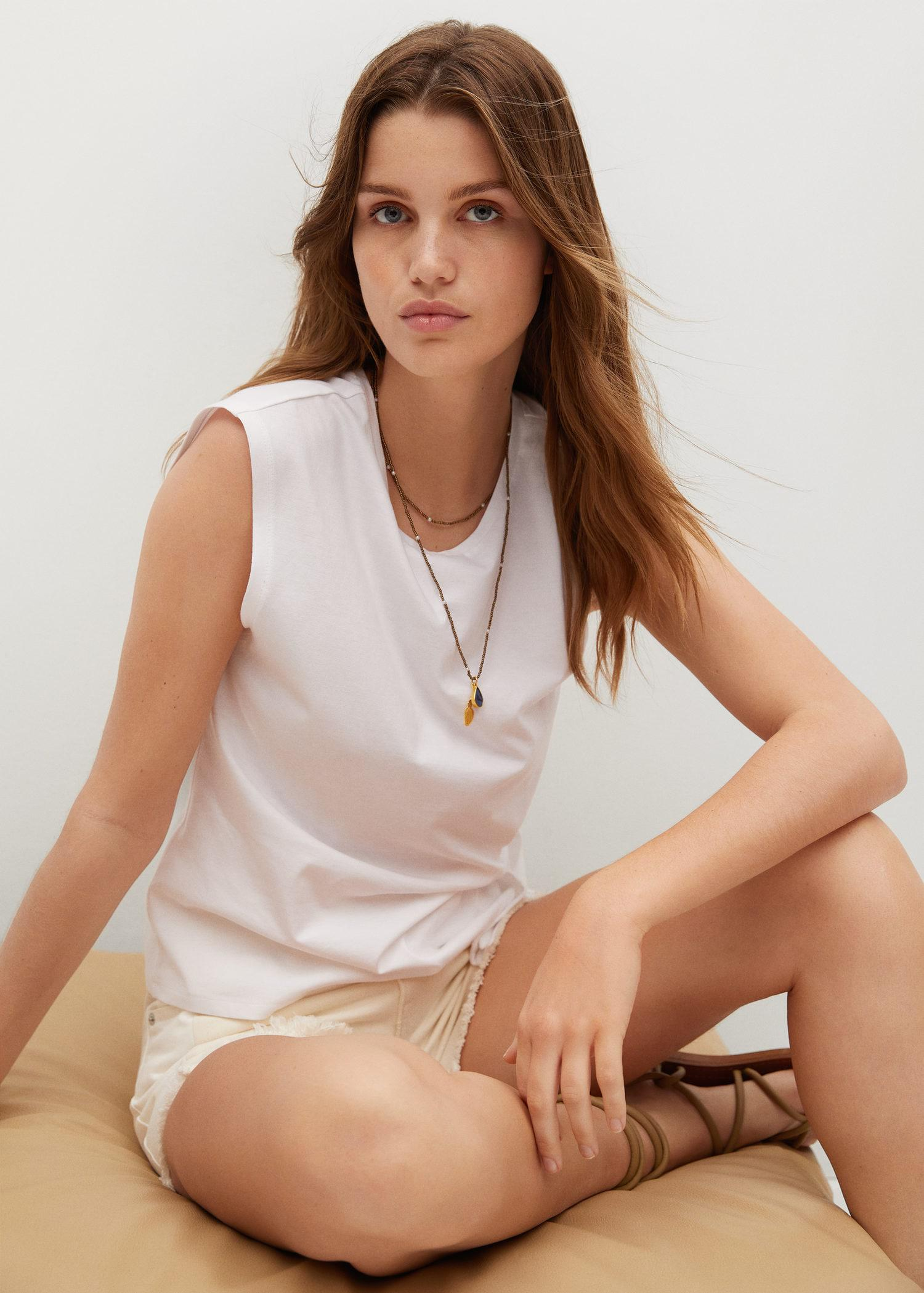 Recycled cotton t-shirt with knot 5