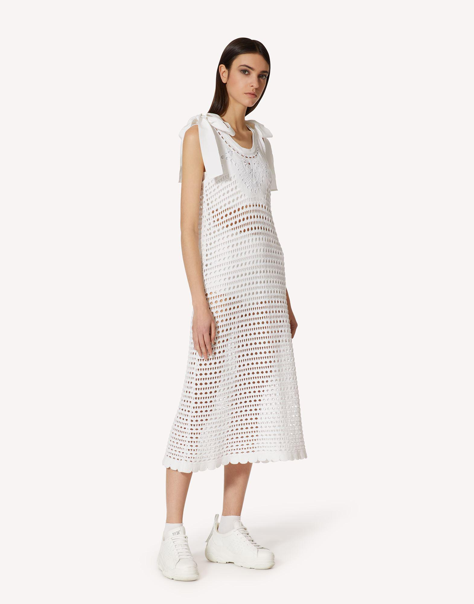 COTTON KNIT DRESS WITH SANGALLO EMBROIDERY 2