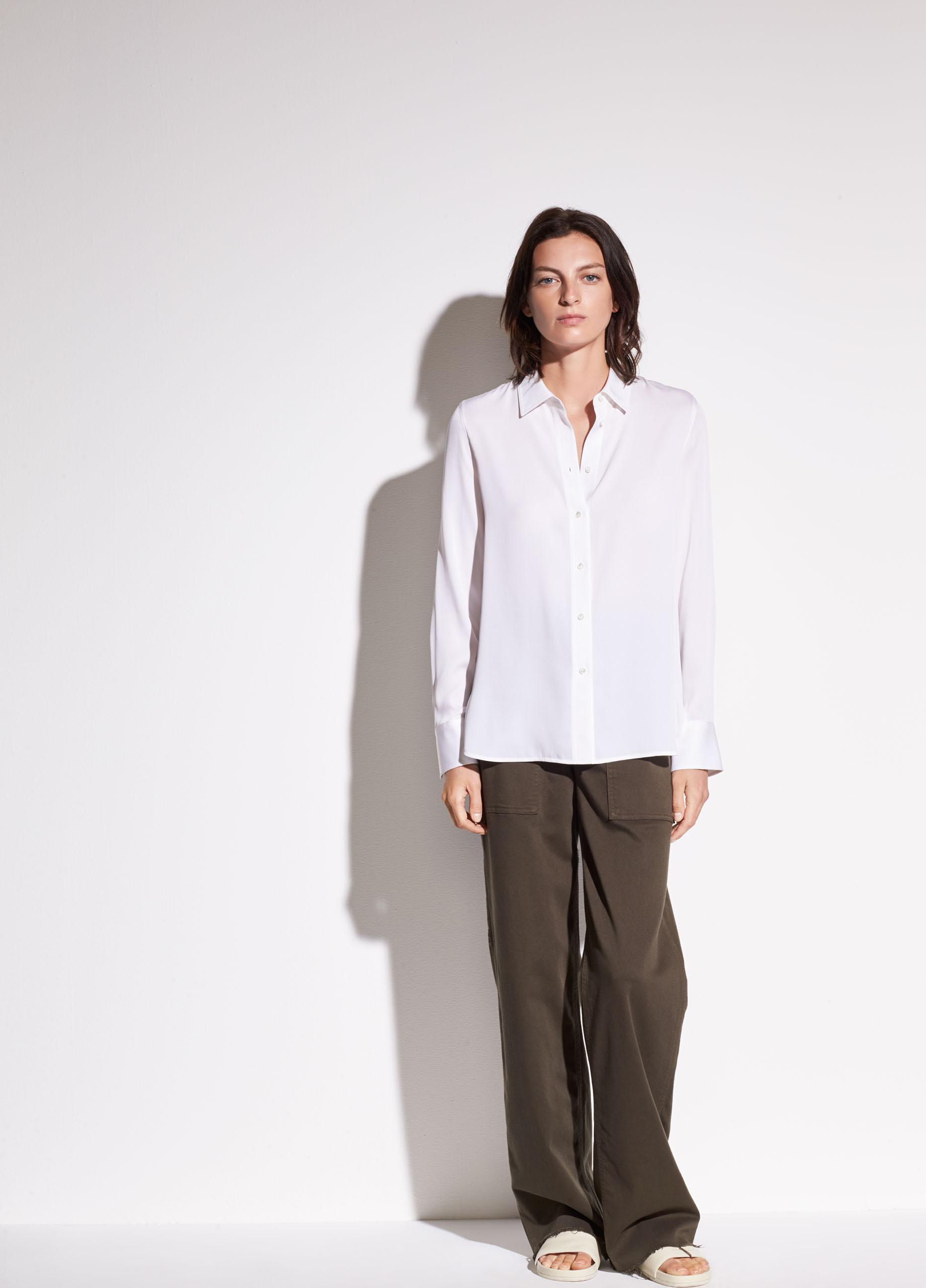 Slim Fitted Stretch-Silk Blouse 3