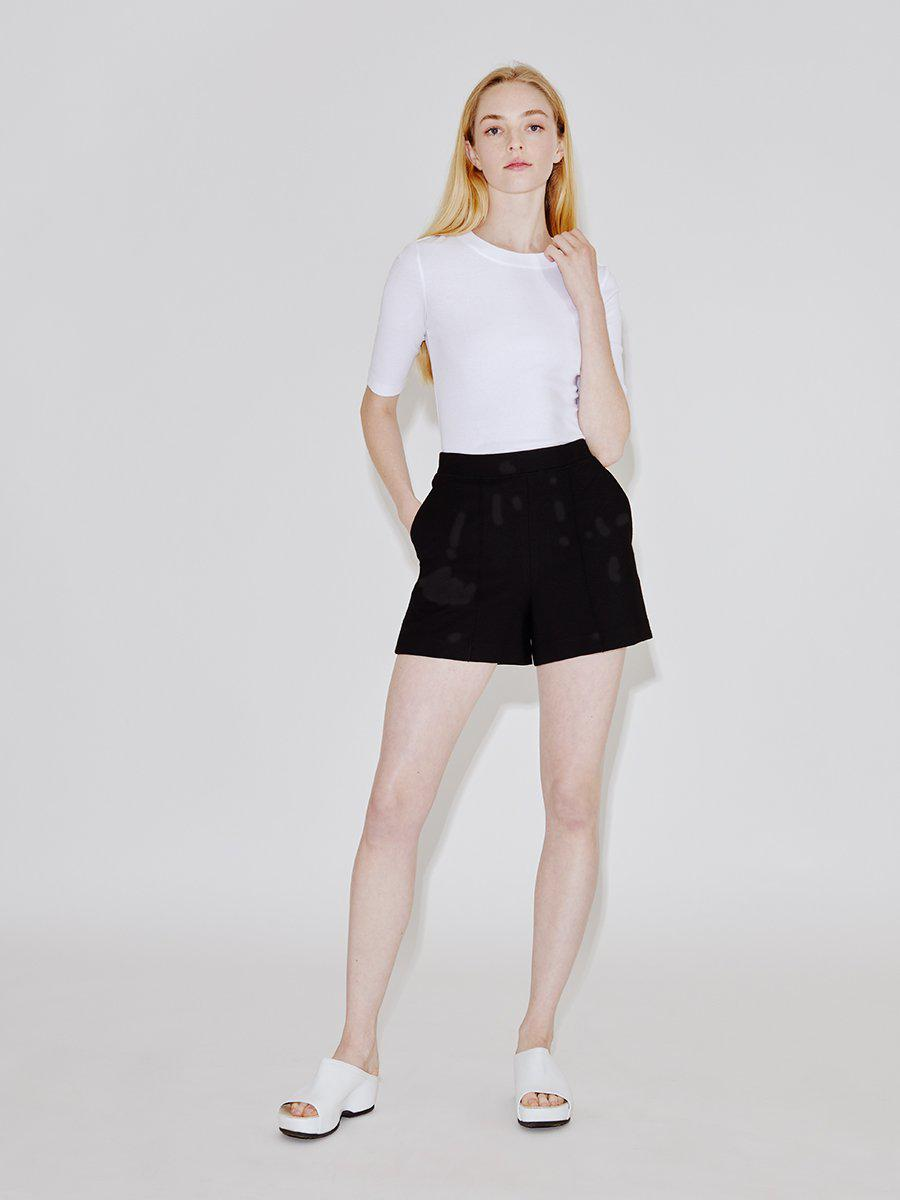 Pull On Relaxed Pintuck Shorts