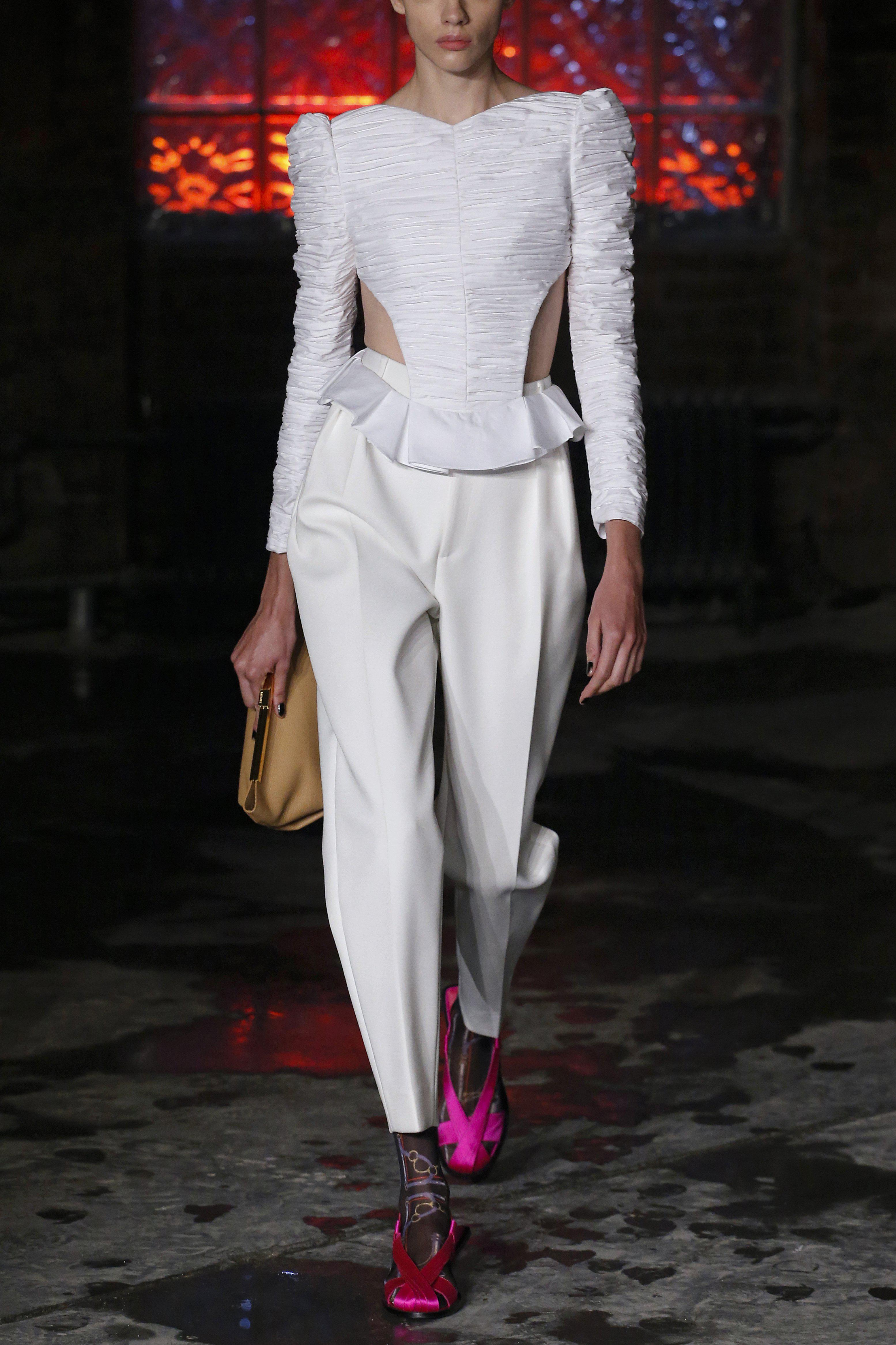 The Connelly Pant in Ivory 3