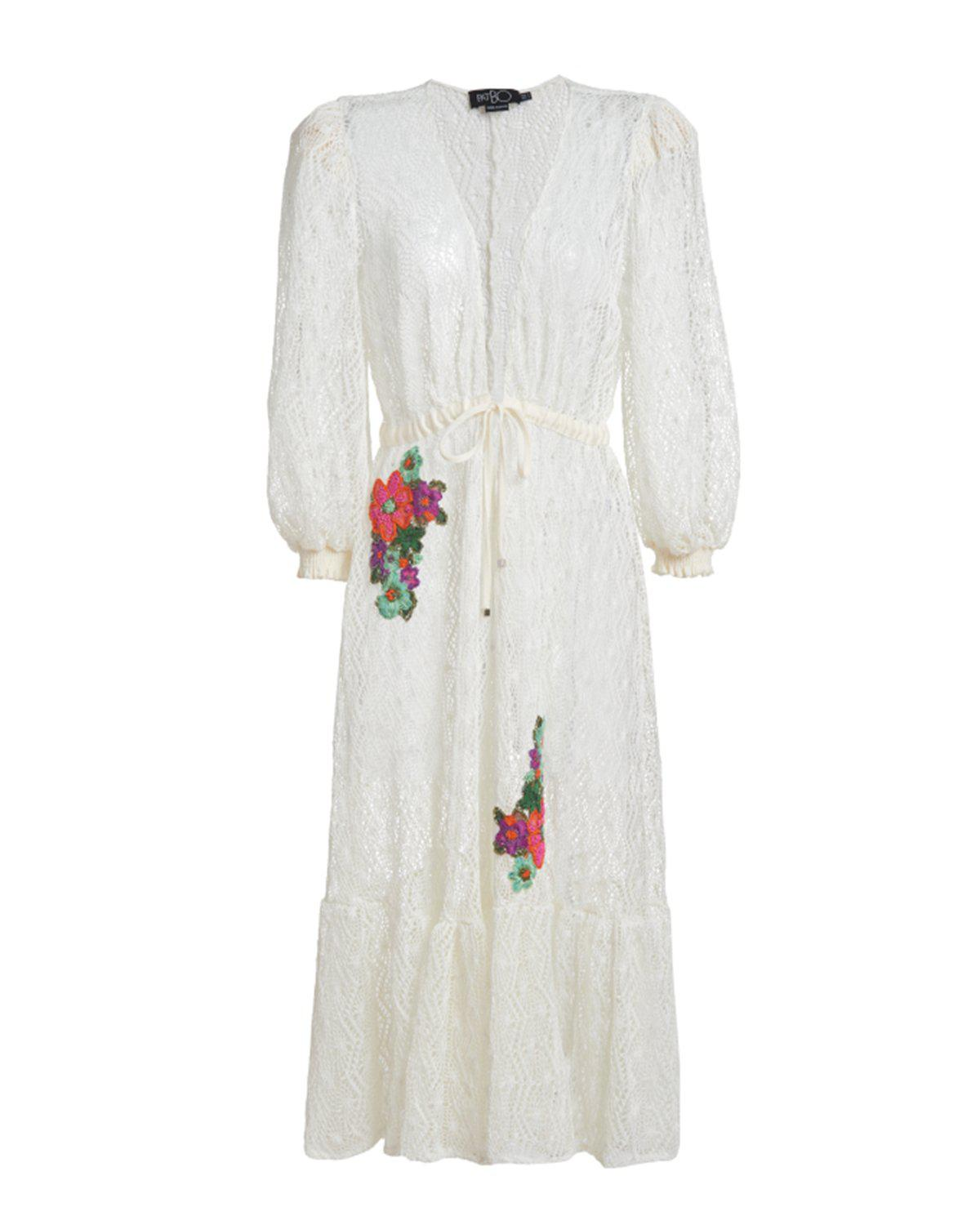 Embroidered Crochet Coverup Dress 1