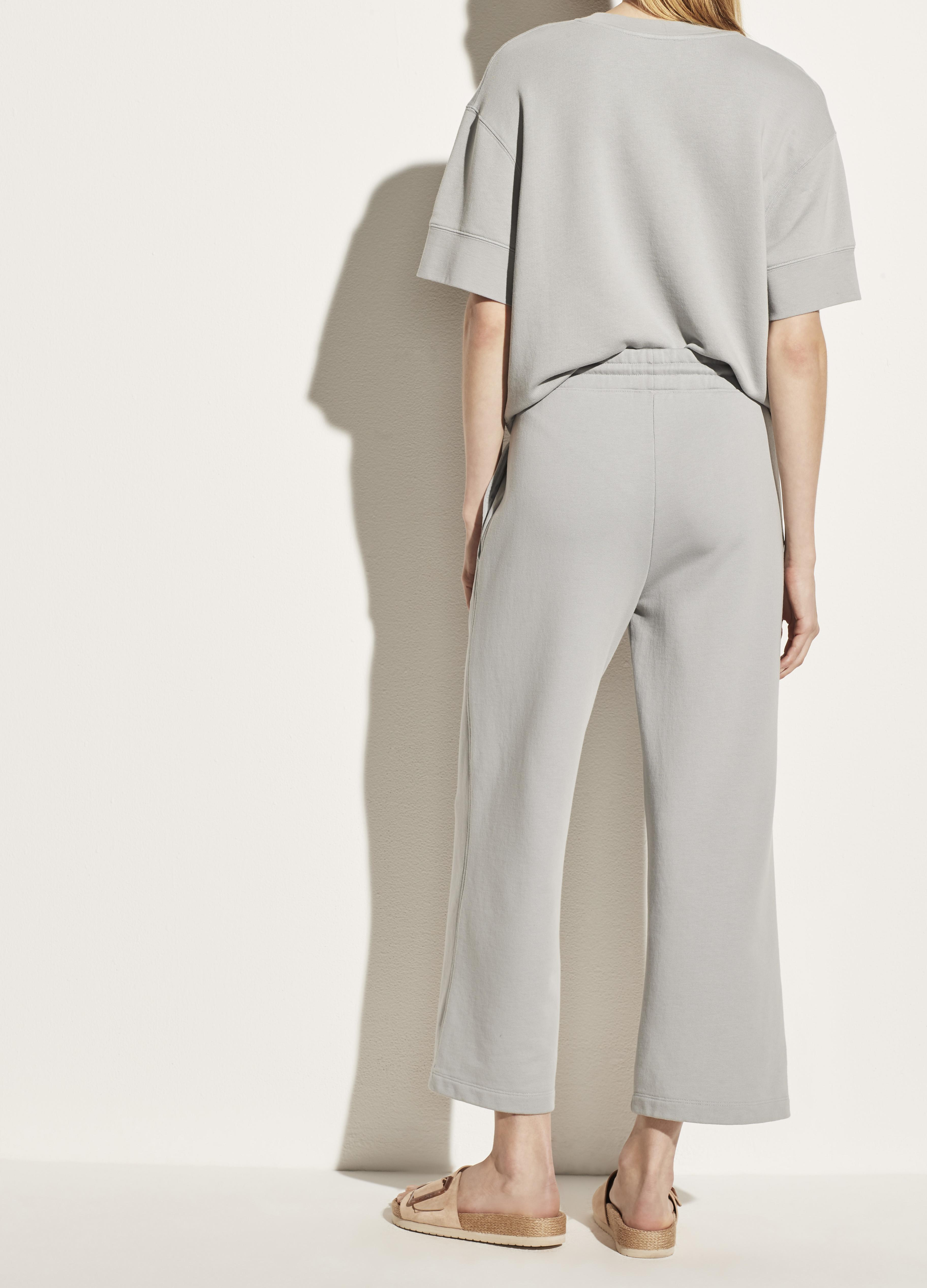 Garment Washed French Terry Cropped Pant 3