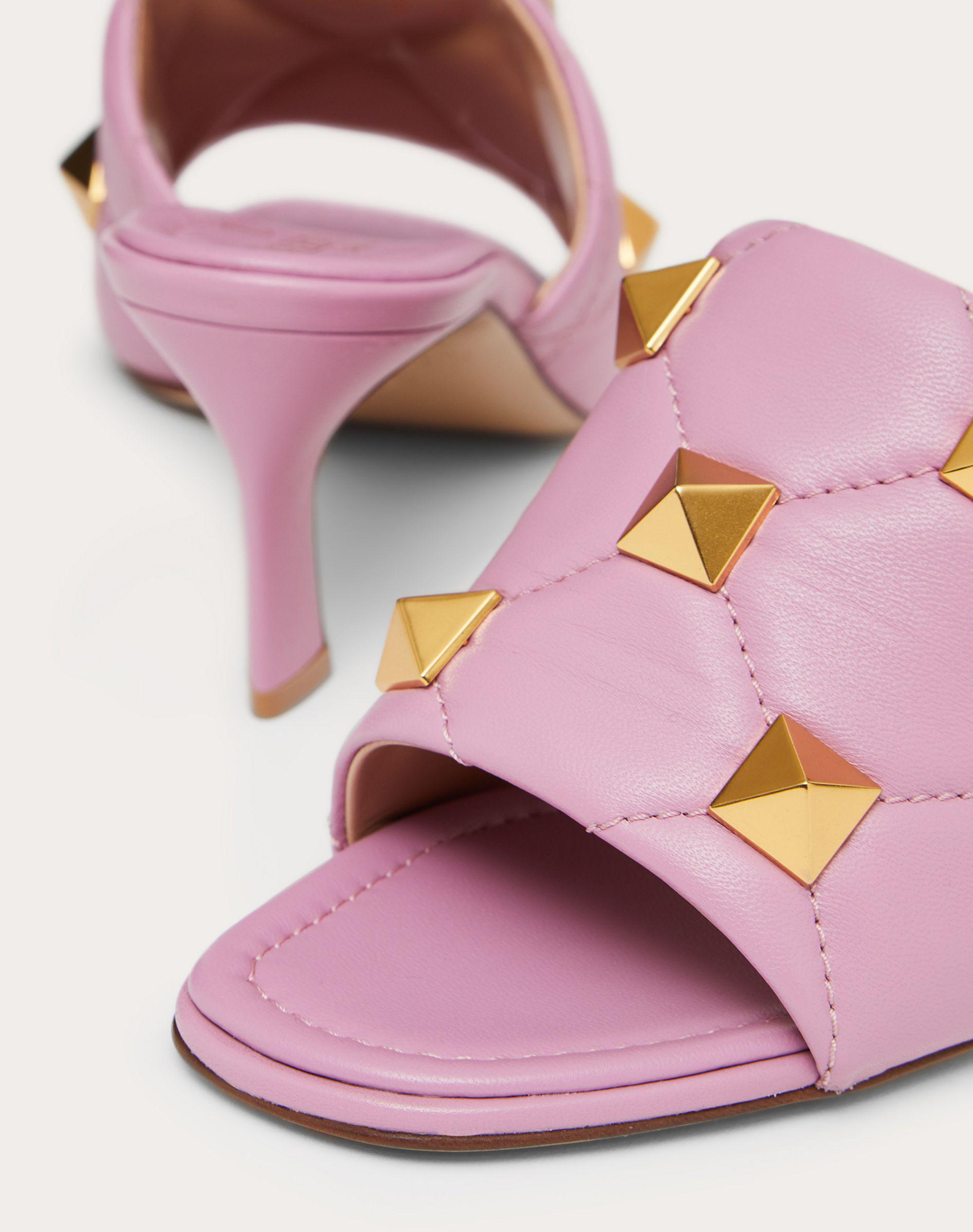 ROMAN STUD SLIDE SANDAL IN QUILTED NAPPA 65 MM 4