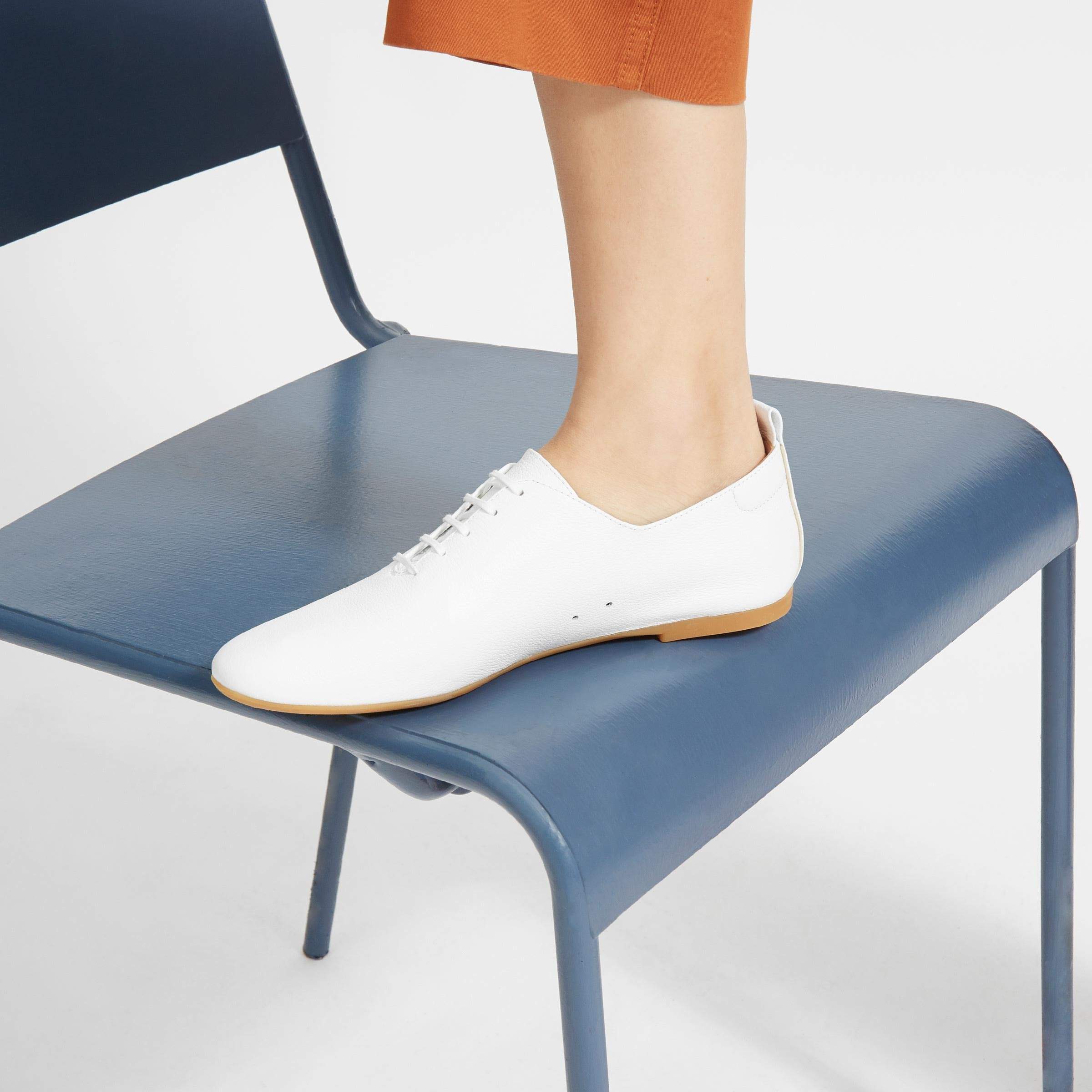 The Leather Lace-Up Flat 5