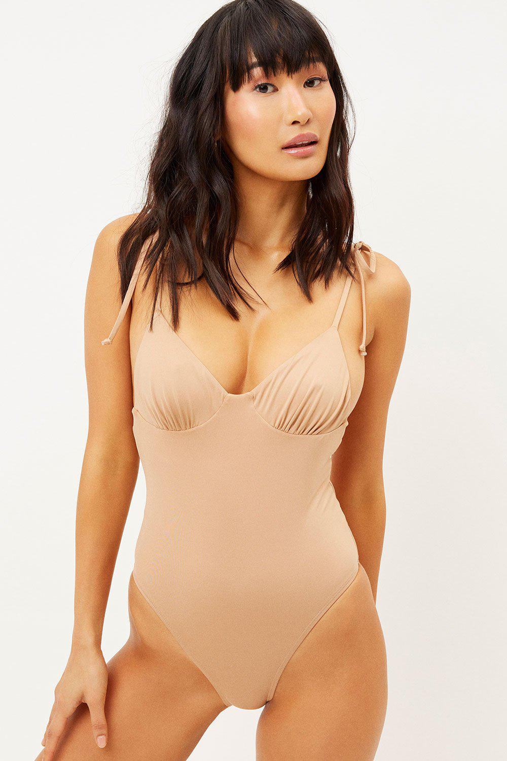 Otis Cheeky One Piece Swimsuit - Earth