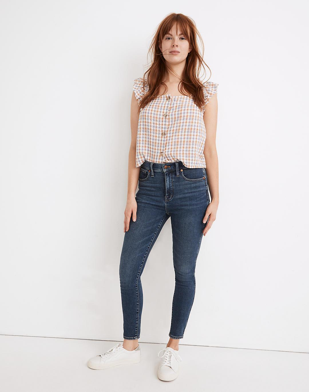 Tall Curvy High-Rise Skinny Jeans in Wendover Wash: TENCEL™ Denim Edition
